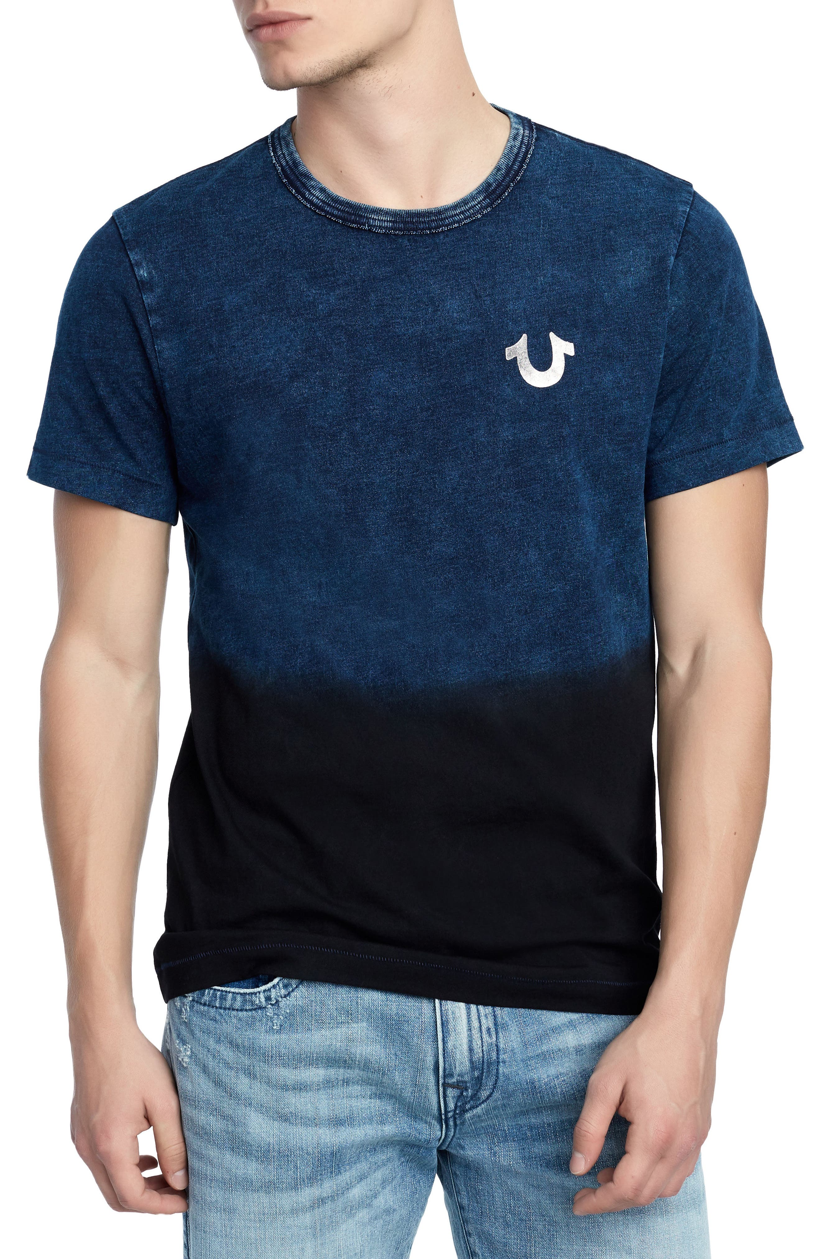 Novelty Indigo T-Shirt,                         Main,                         color, INDIGO