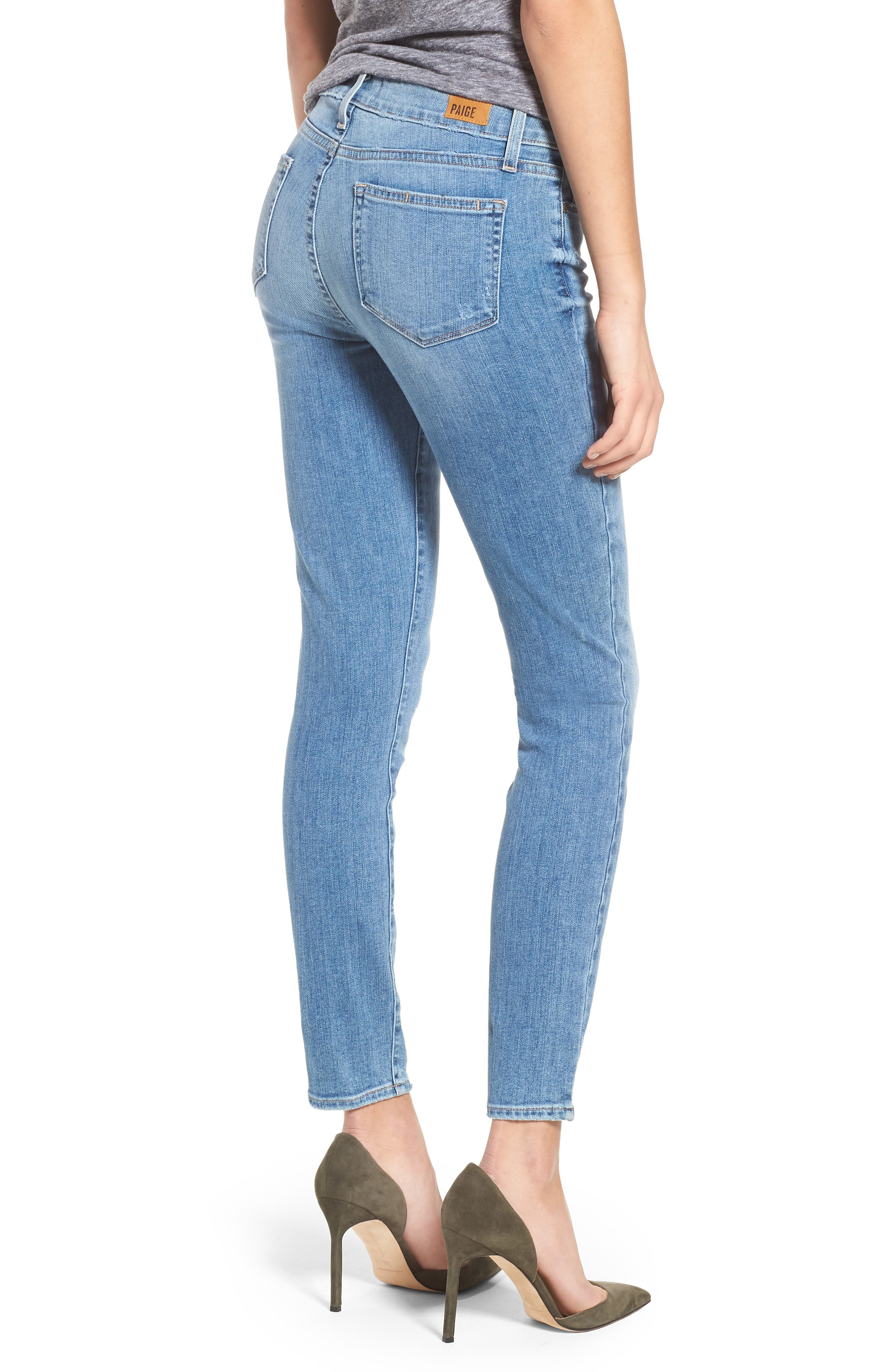Transcend - Verdugo Ankle Ultra Skinny Jeans,                             Alternate thumbnail 2, color,                             400