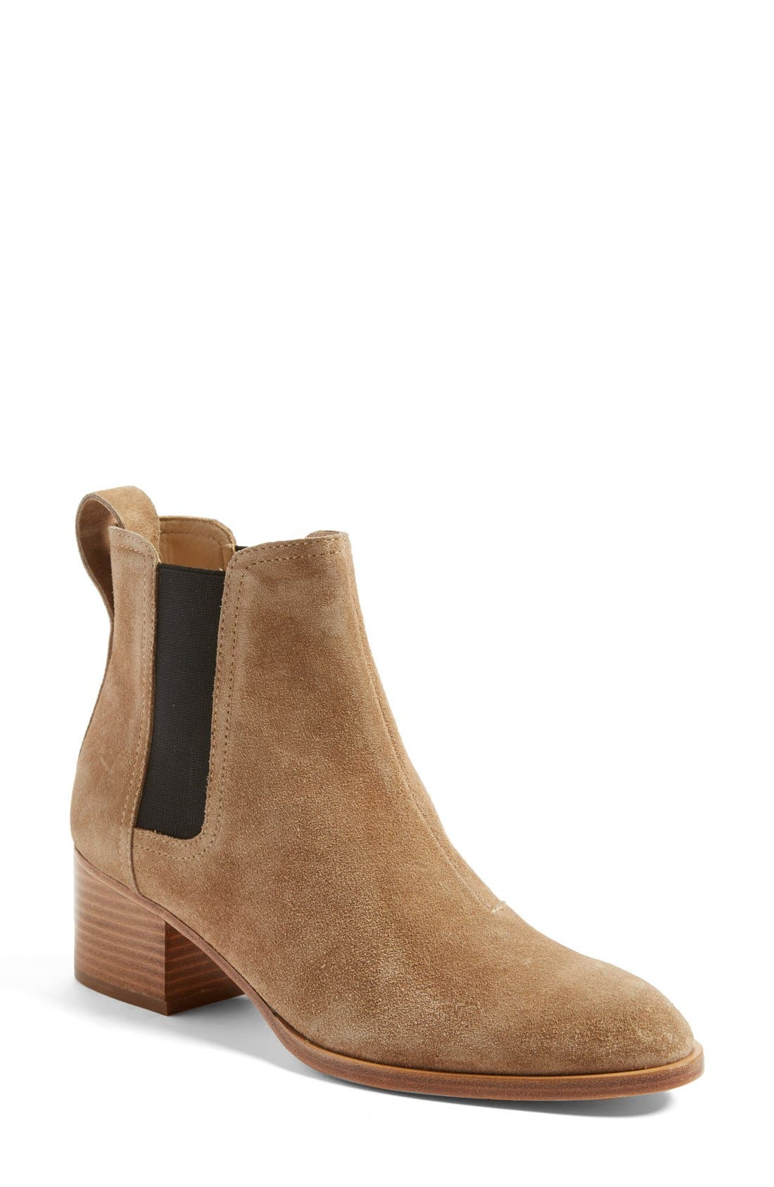 'Walker' Bootie,                             Main thumbnail 1, color,                             CAMEL SUEDE