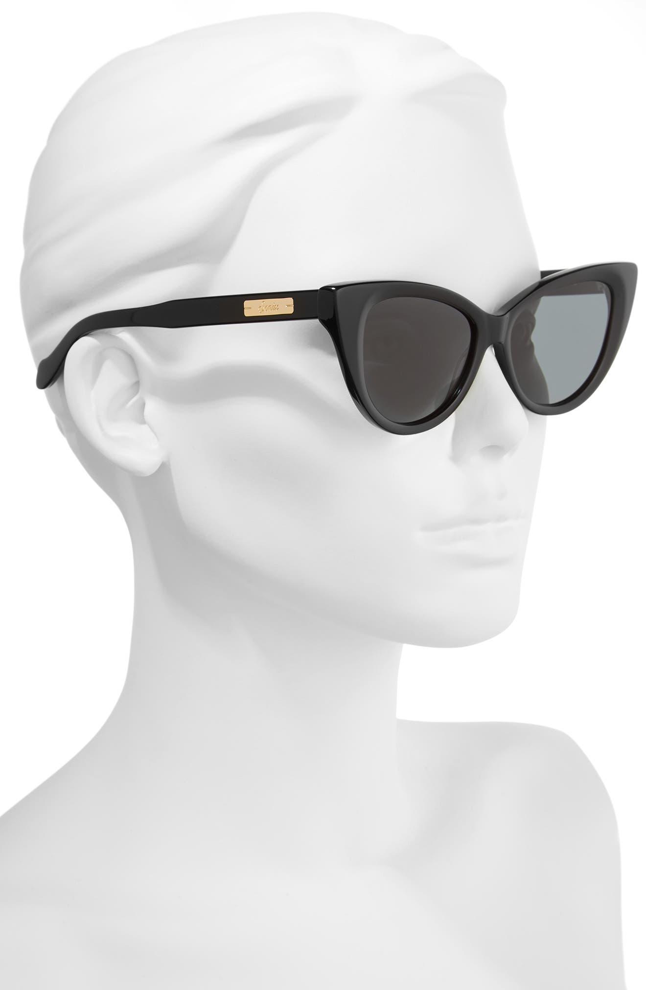 SONIX,                             Kyoto 51mm Cat Eye Sunglasses,                             Alternate thumbnail 2, color,                             001