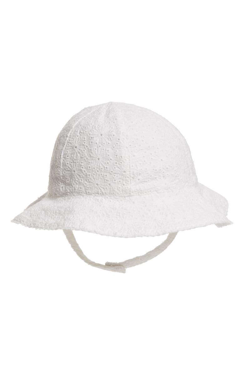 Nordstrom Baby Eyelet Sun Hat (Baby Girls)  ac2f3e90b76