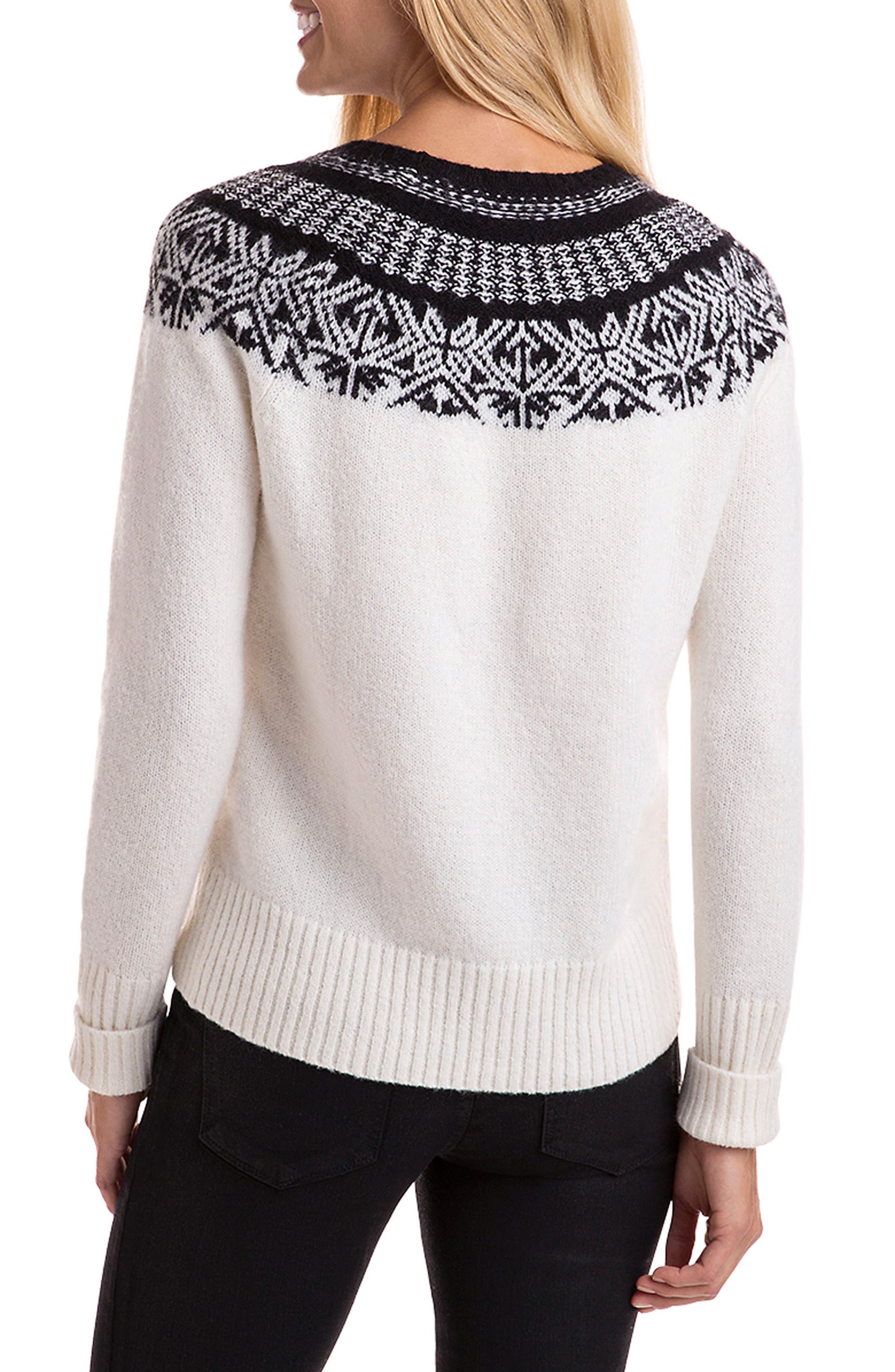 Nordic Fair Isle Sweater,                             Alternate thumbnail 2, color,                             900