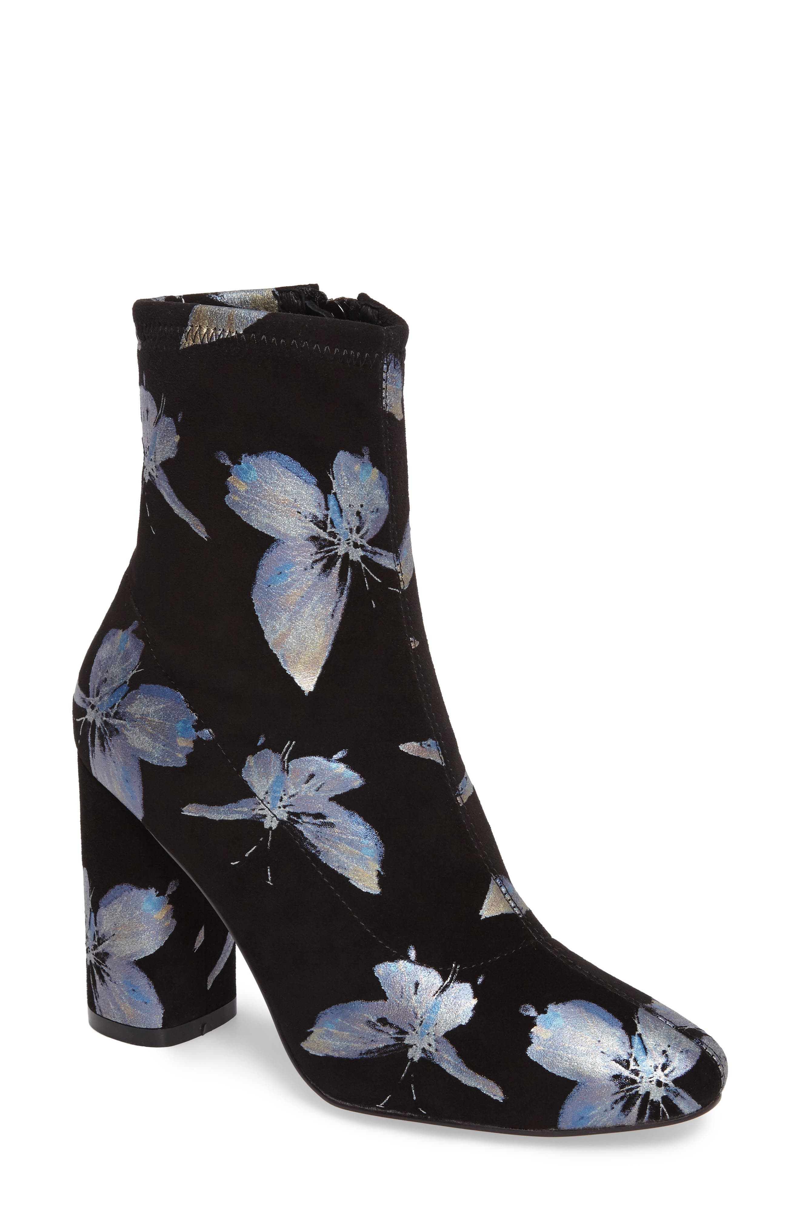Fredda Butterfly Sock Bootie,                             Main thumbnail 1, color,                             001