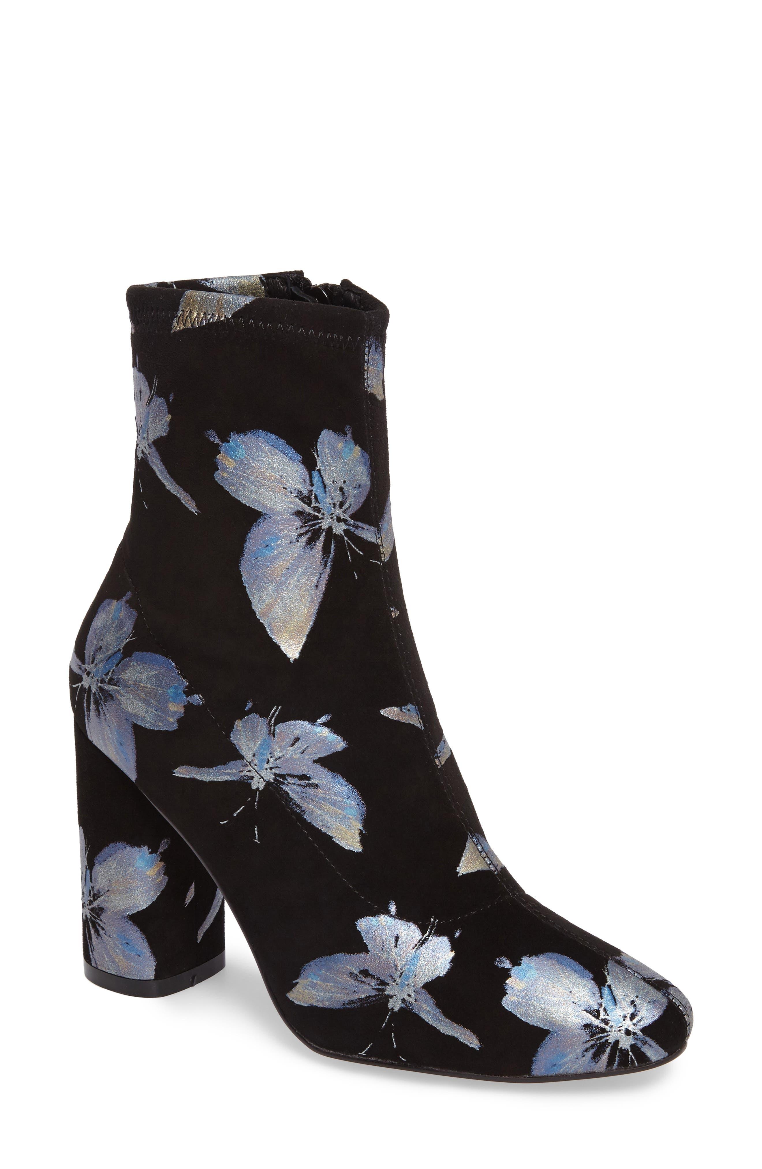 Fredda Butterfly Sock Bootie,                         Main,                         color, 001