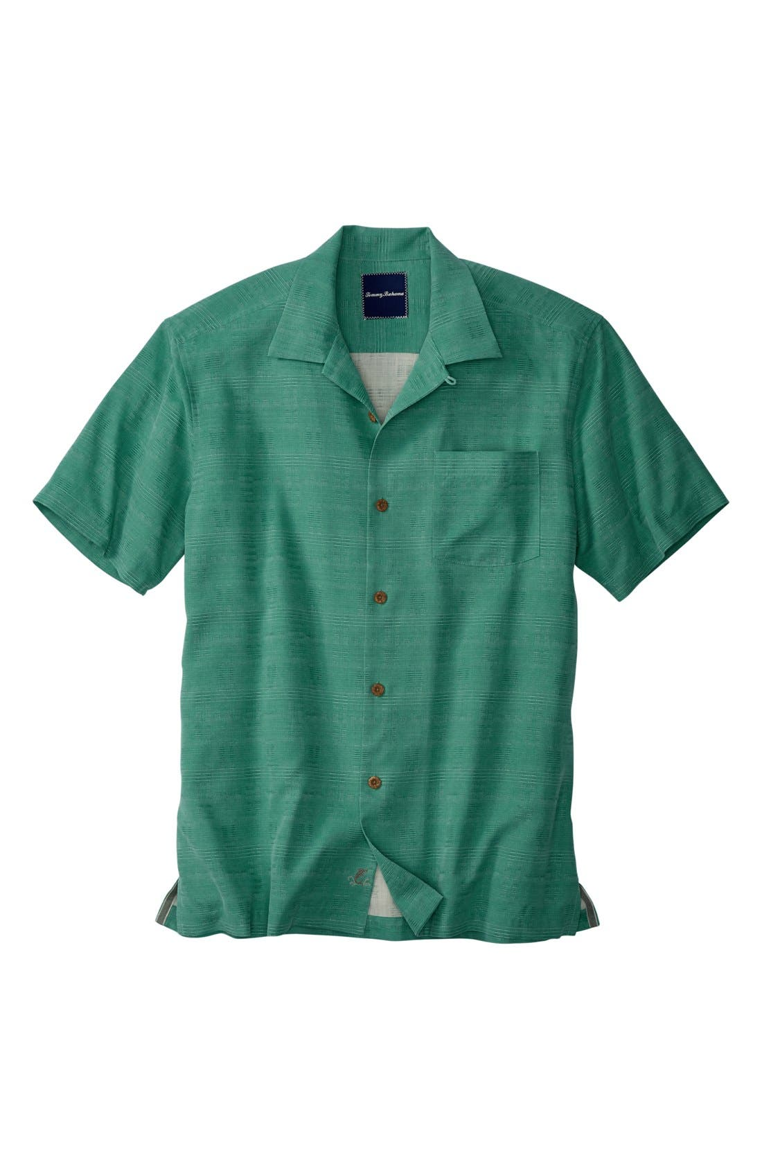 'Geo-Rific Jacquard' Original Fit Silk Camp Shirt,                             Main thumbnail 4, color,