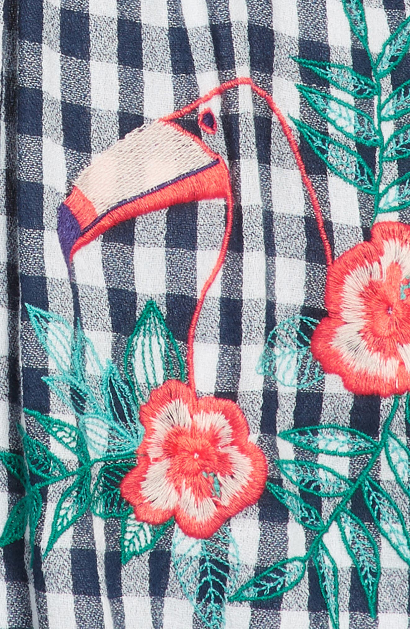 TUCKER + TATE,                             Smocked Gingham Dress,                             Alternate thumbnail 3, color,                             410