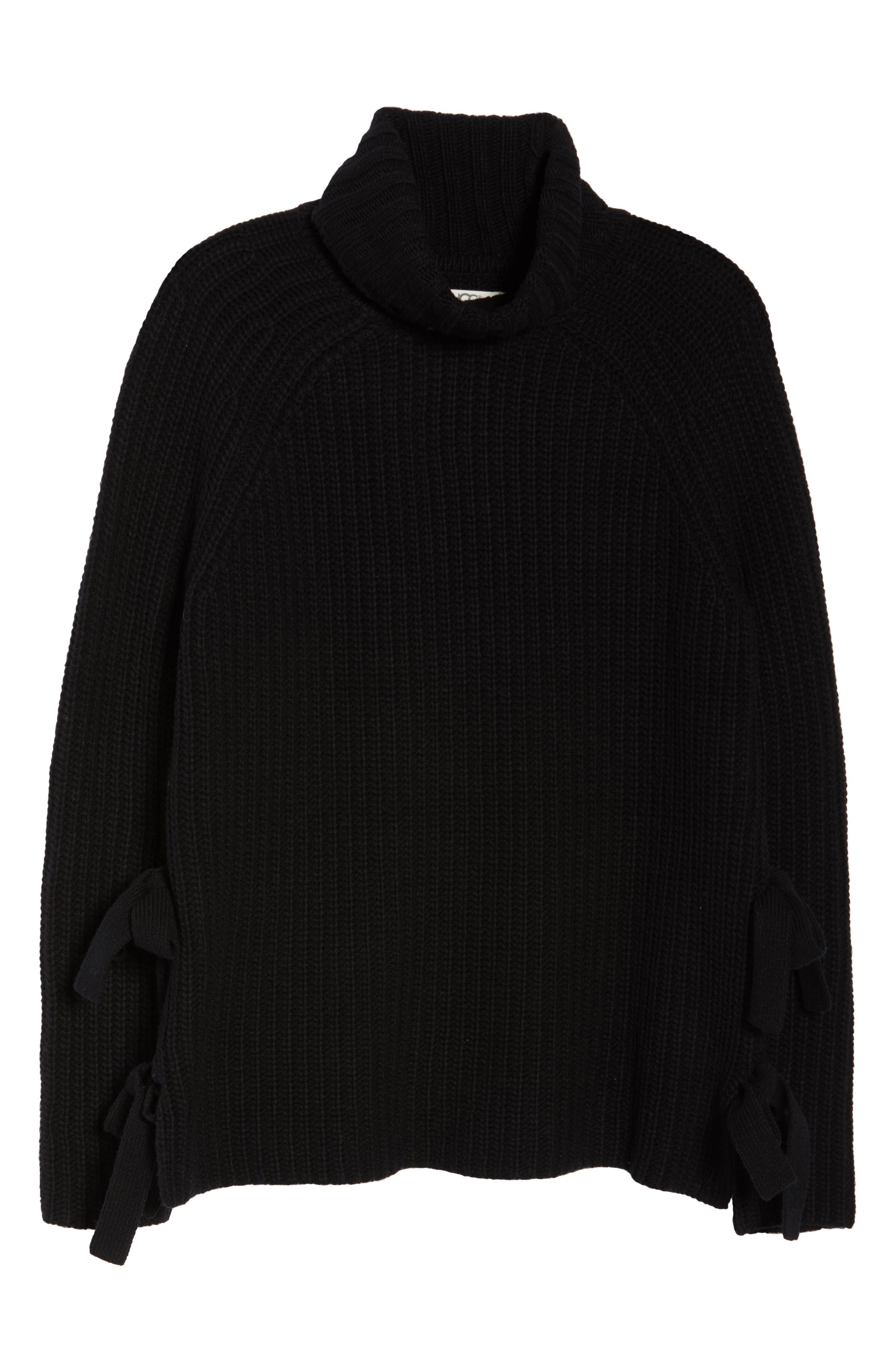 Ceanne Turtleneck Sweater,                             Alternate thumbnail 6, color,                             001