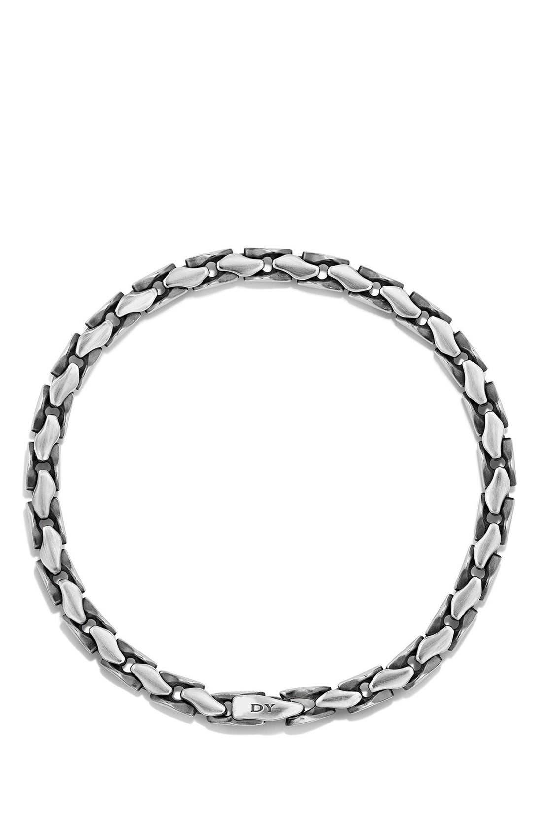 'Chain' Large Fluted Chain Bracelet,                             Alternate thumbnail 3, color,                             SILVER