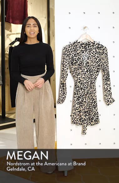 Leopard Print Pajama Shirtdress, sales video thumbnail