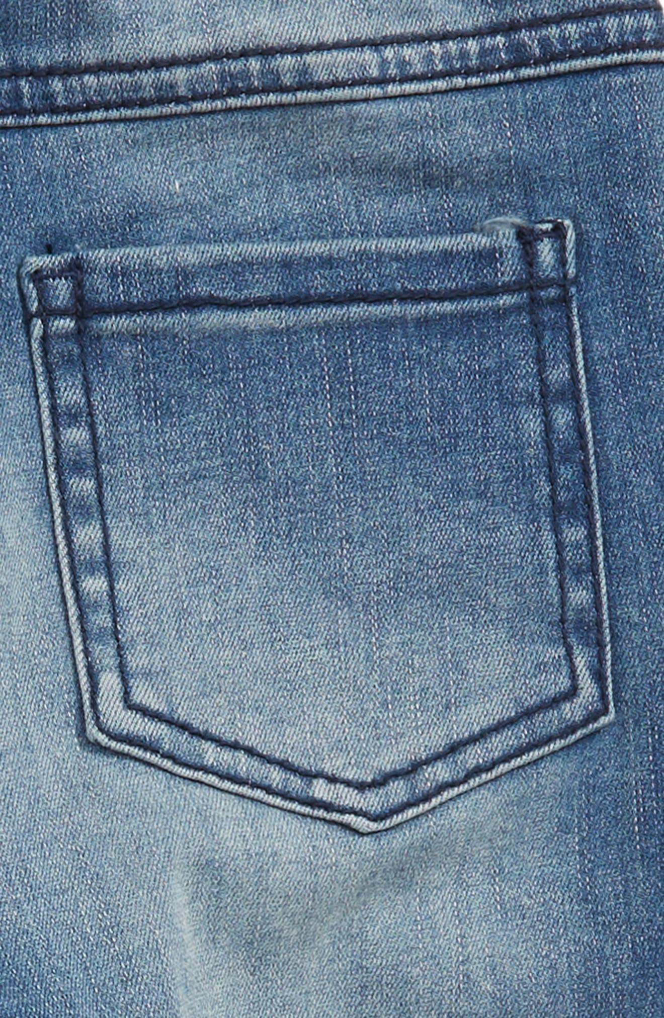 Shadow Patch Jeans,                             Alternate thumbnail 3, color,                             BLUE SHINE WASH