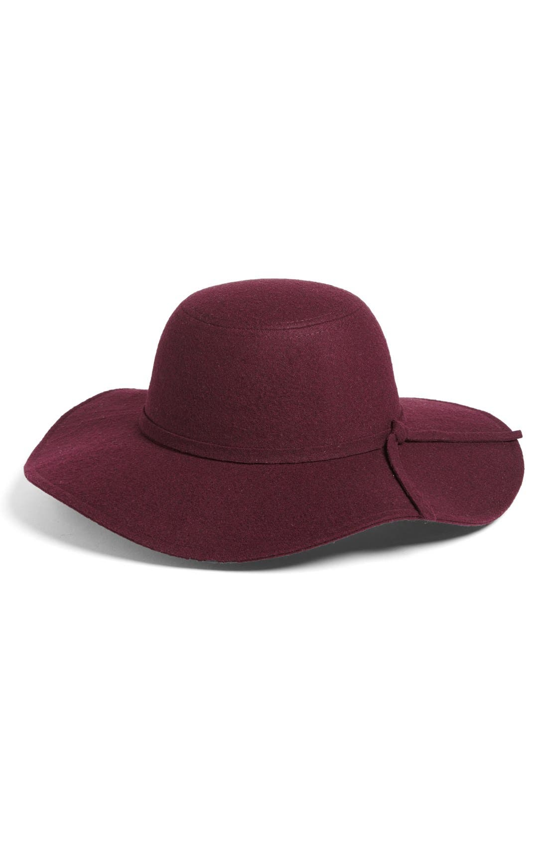 Floppy Felt Hat,                             Main thumbnail 11, color,