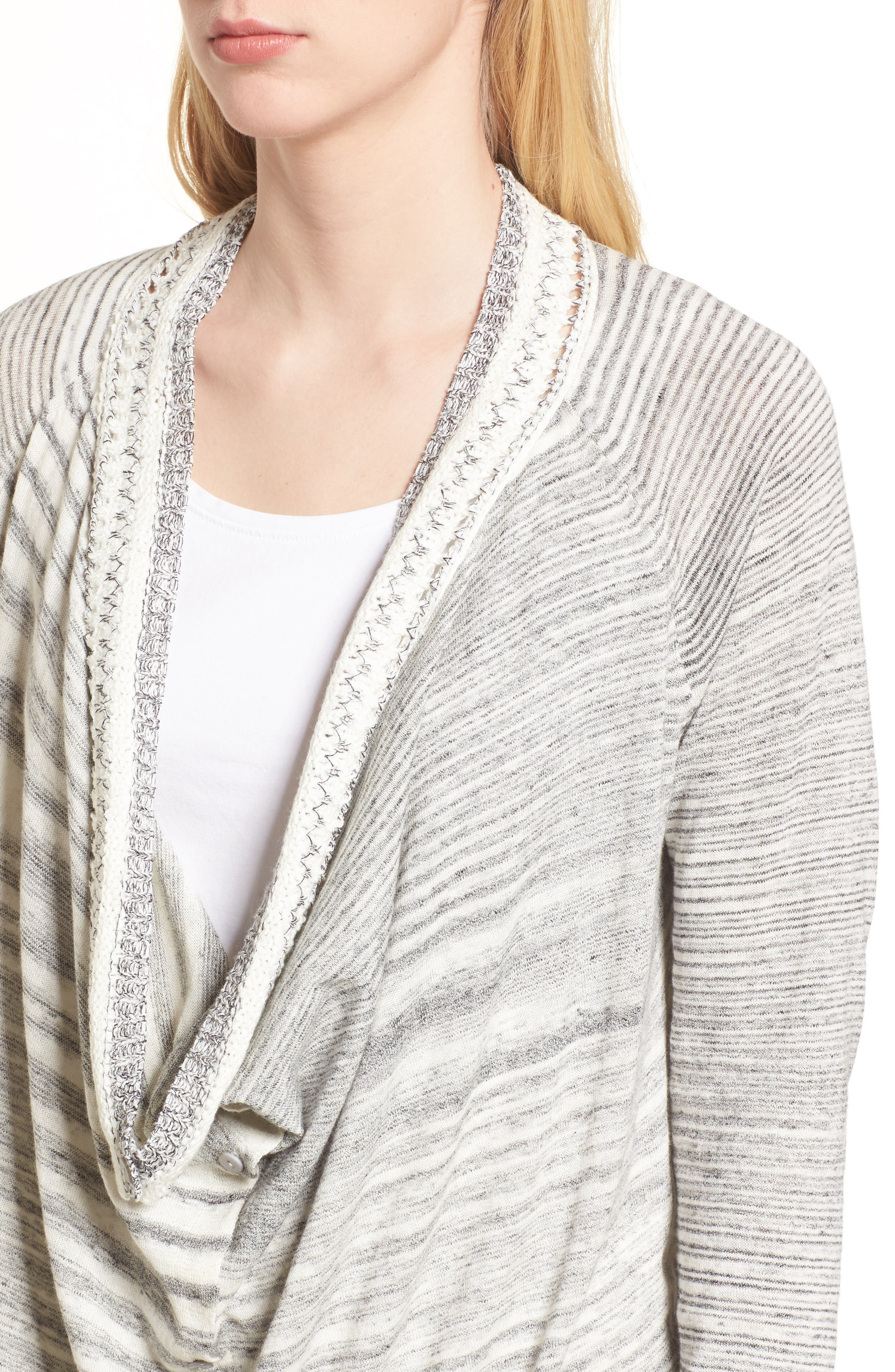 NIC + ZOE Time Change Cowl Neck Cardigan,                             Alternate thumbnail 4, color,                             050
