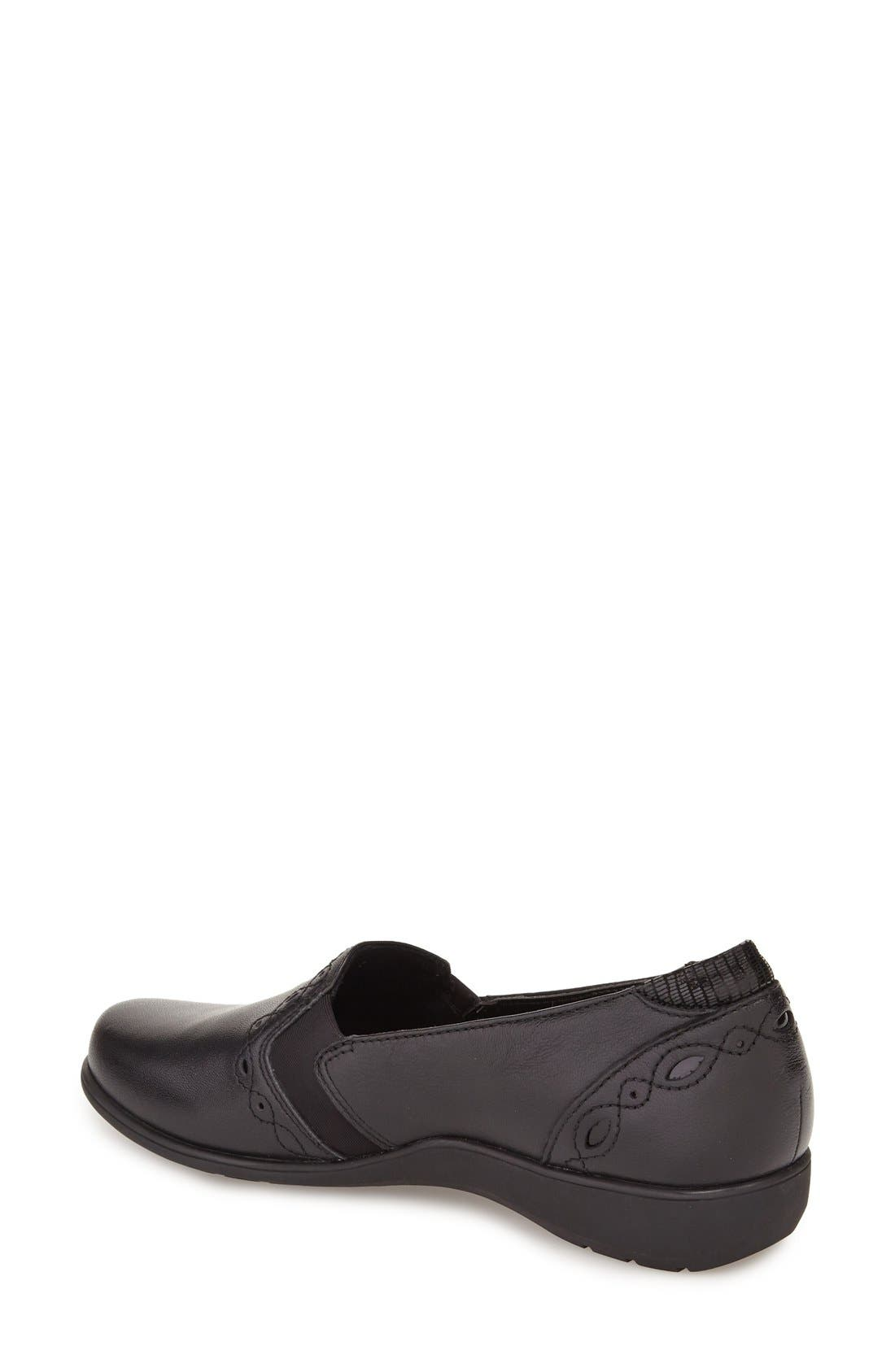 'Adalyn' Loafer,                             Alternate thumbnail 2, color,                             BLACK LEATHER