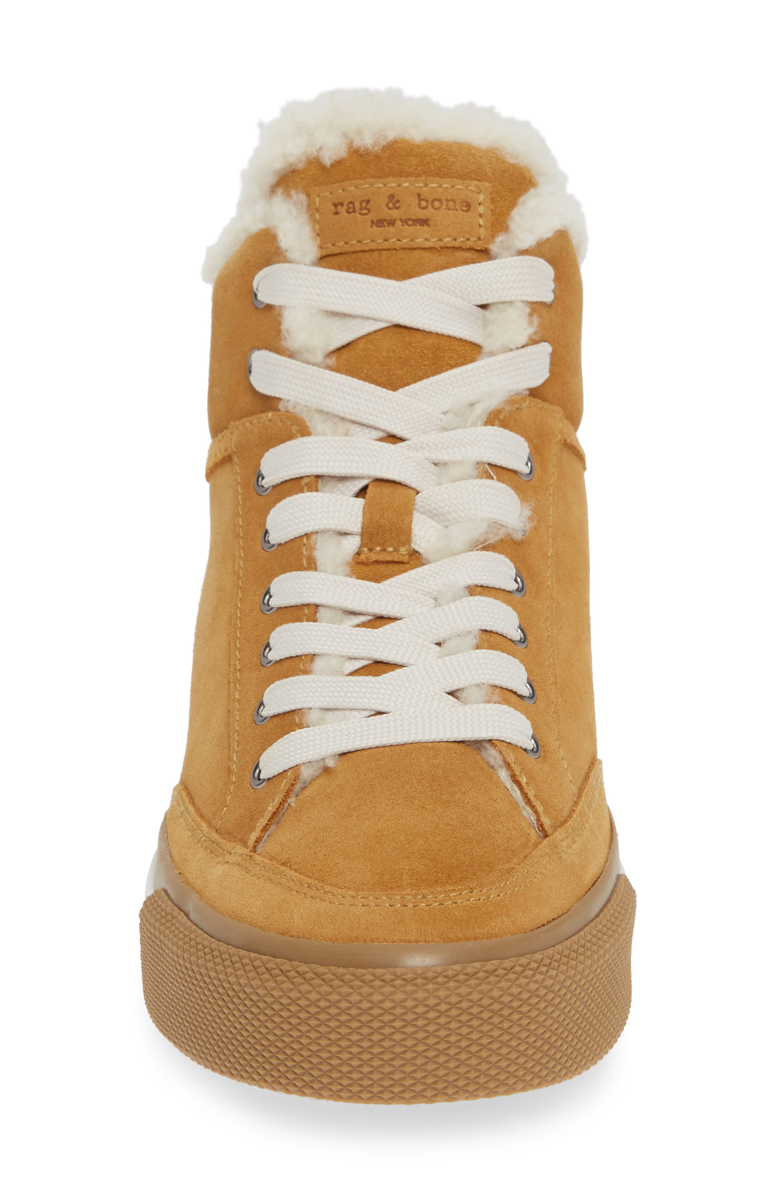 Army High Top Sneaker,                             Alternate thumbnail 4, color,                             OAK SUEDE