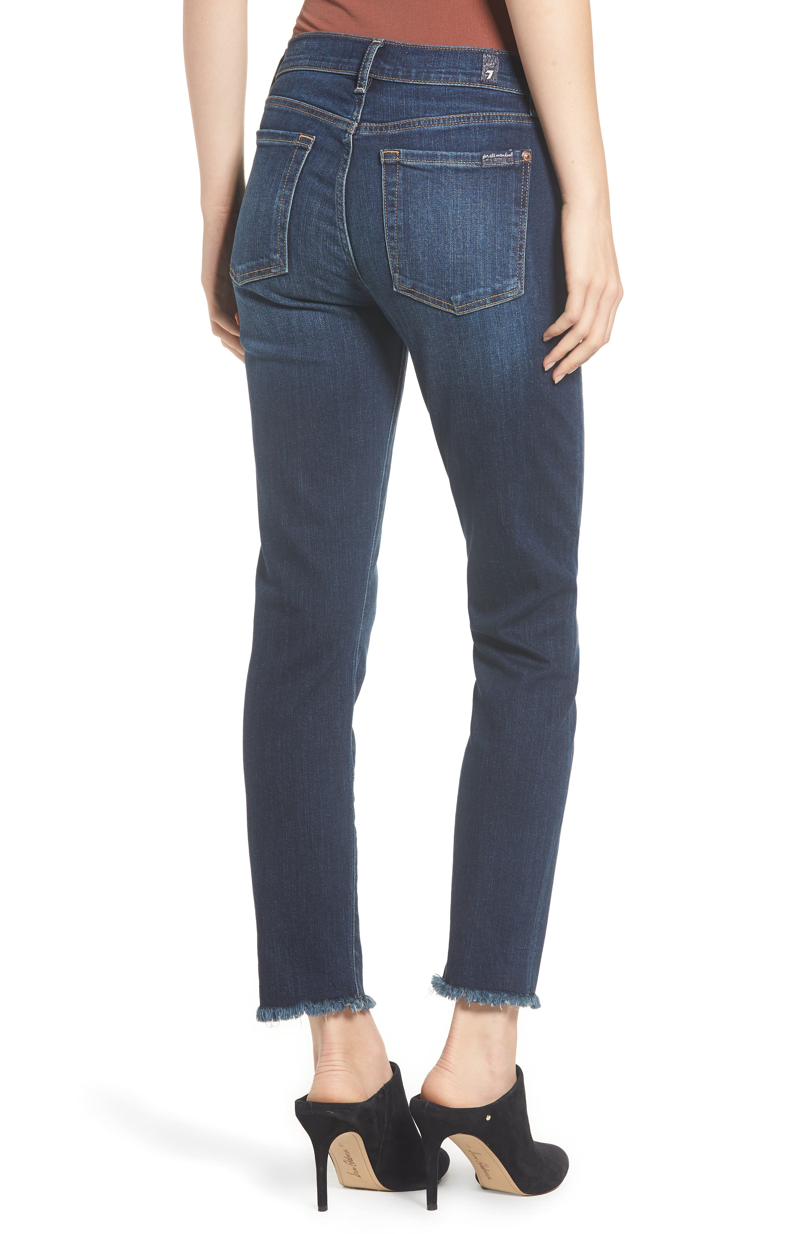 b(air) Roxanne Frayed Ankle Slim Jeans,                             Alternate thumbnail 2, color,                             AUTHENTIC FATE