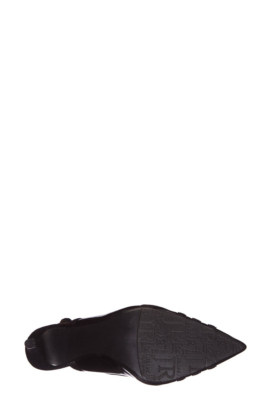 J. RENEÉ,                             'Cierra' Slingback Pump,                             Alternate thumbnail 3, color,                             001