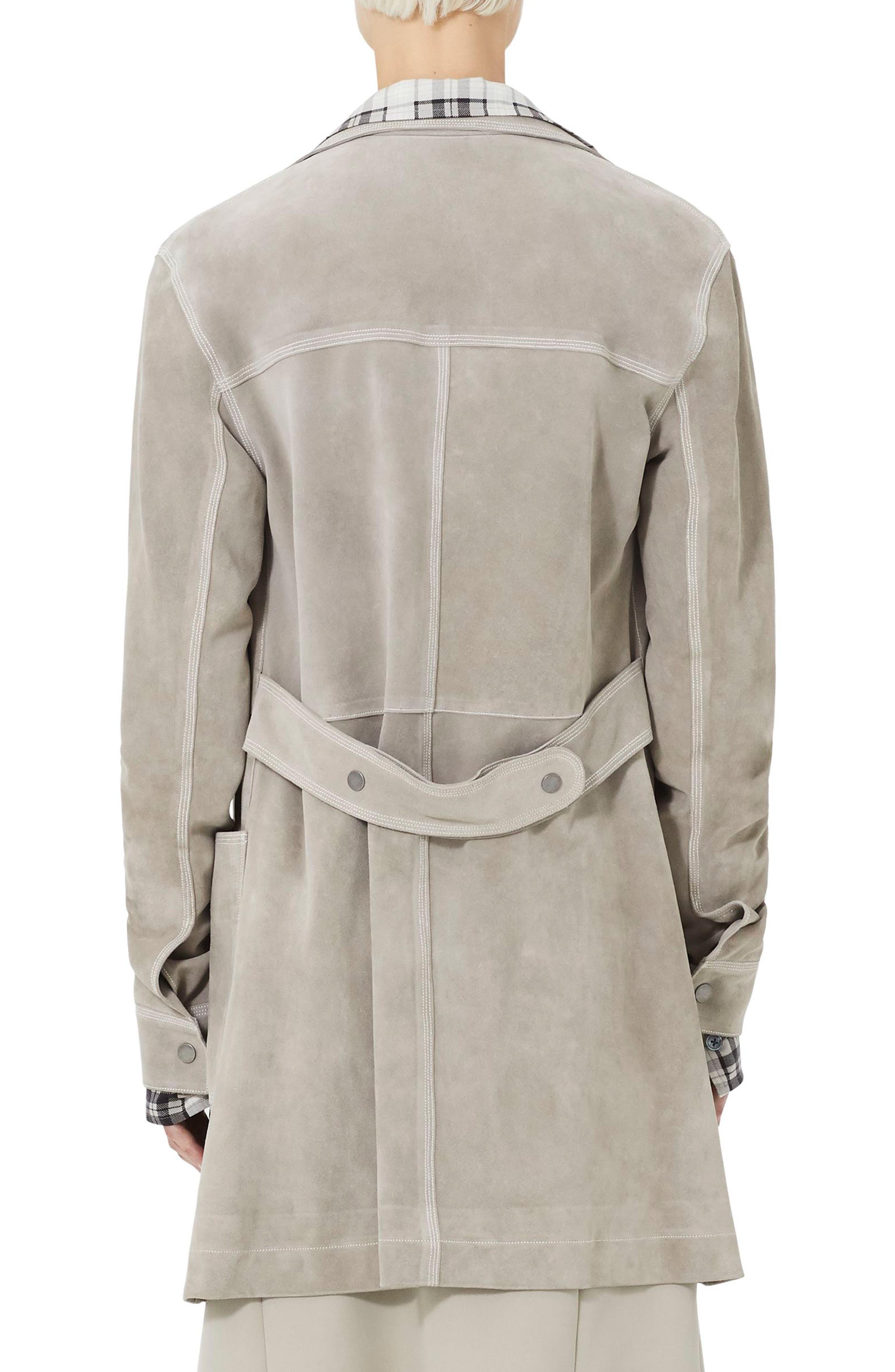 MARC JACOBS,                             Martingale Belt Suede Coat,                             Alternate thumbnail 2, color,                             260