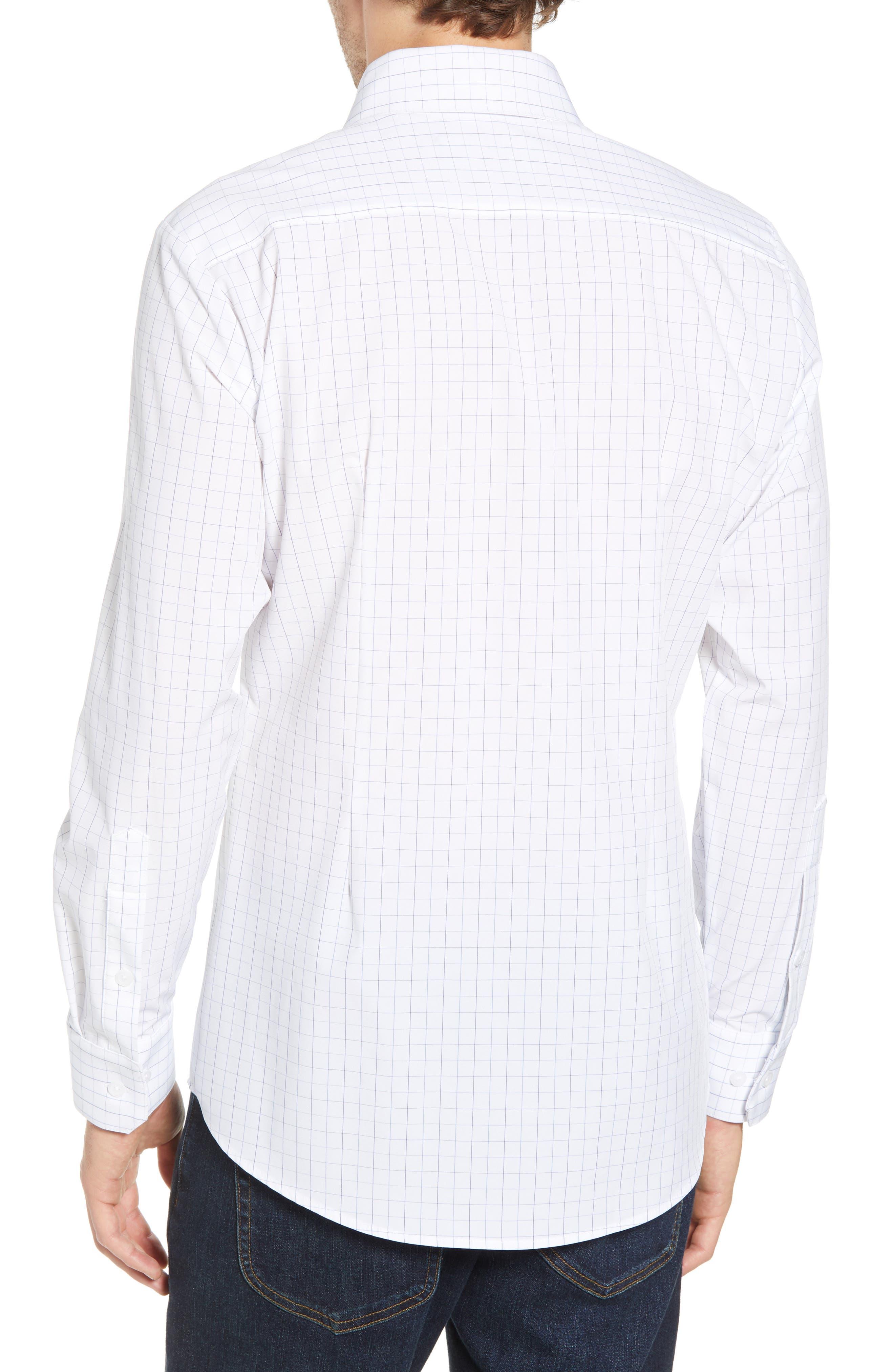 Buckner Slim Fit Grid Performance Sport Shirt,                             Alternate thumbnail 2, color,                             400