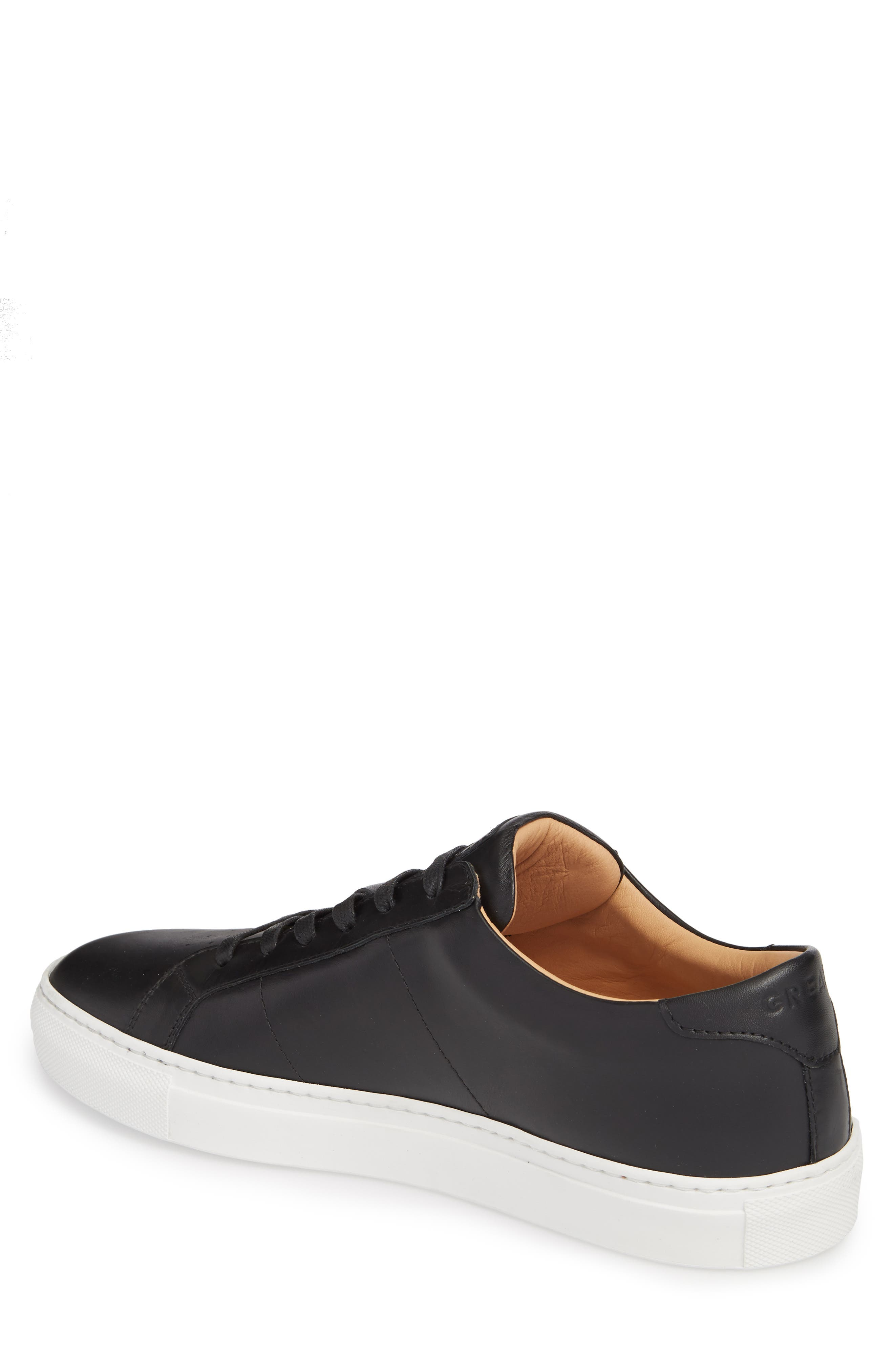 Royale Sneaker,                             Alternate thumbnail 2, color,                             BLACK LEATHER