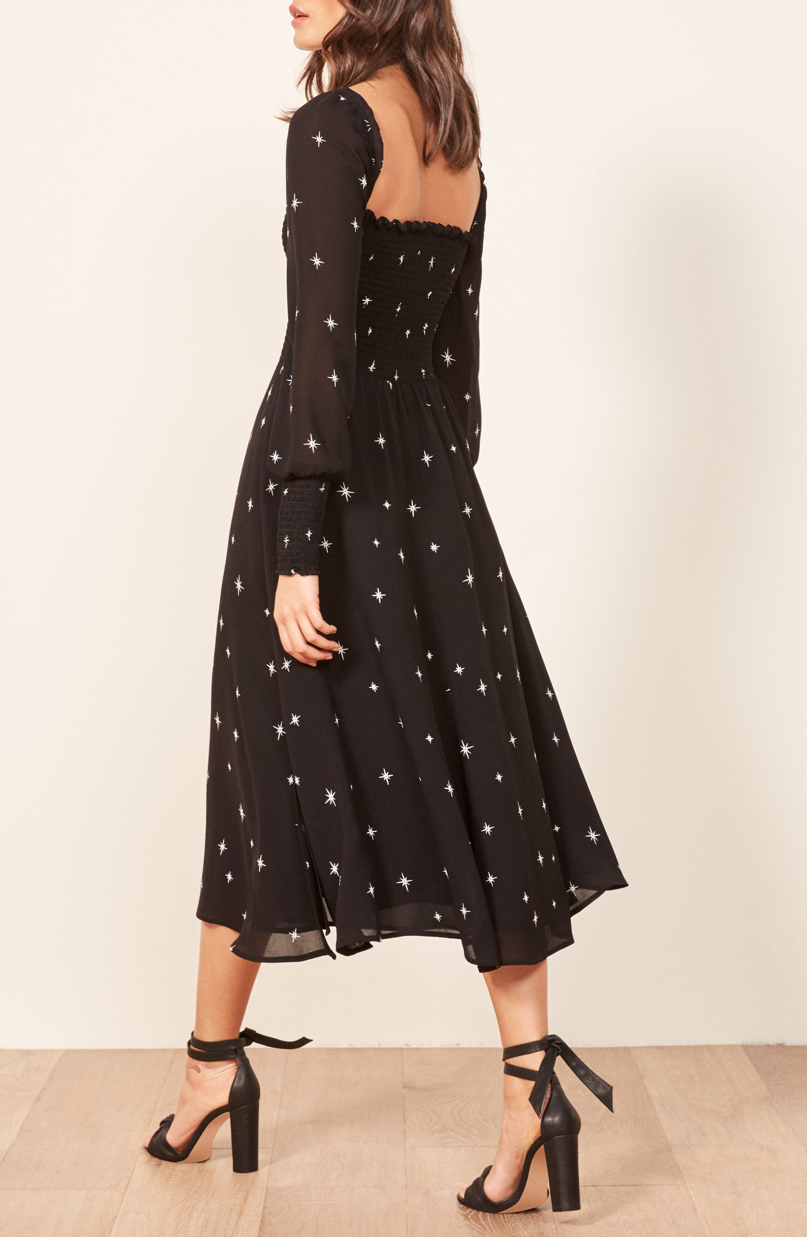 Rowan Midi Dress,                             Alternate thumbnail 3, color,                             CONSTELLATION