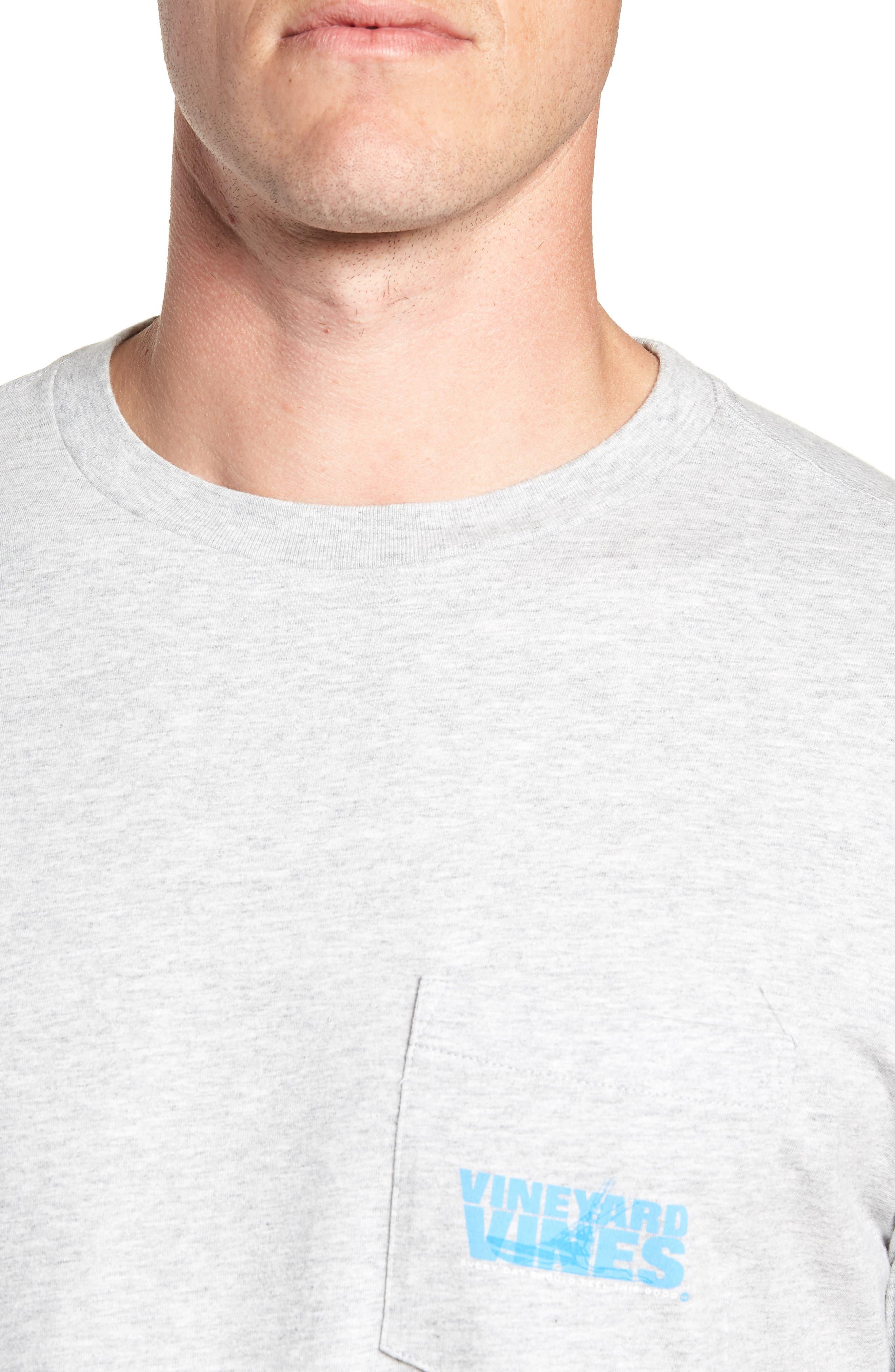 Knockout Sportfisher T-Shirt,                             Alternate thumbnail 4, color,                             GRAY HEATHER