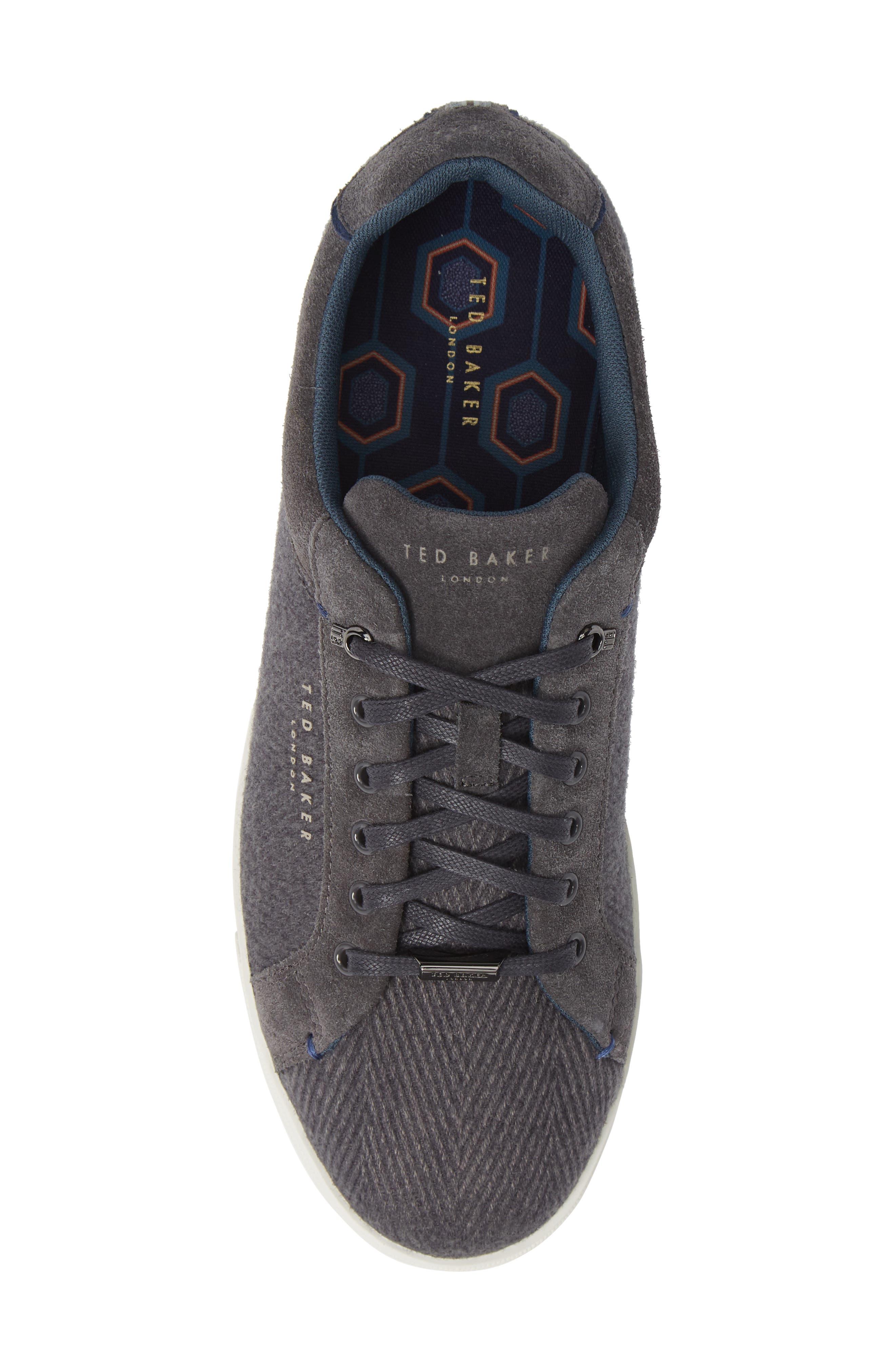 Werill Sneaker,                             Alternate thumbnail 5, color,                             DARK GREY WOOL