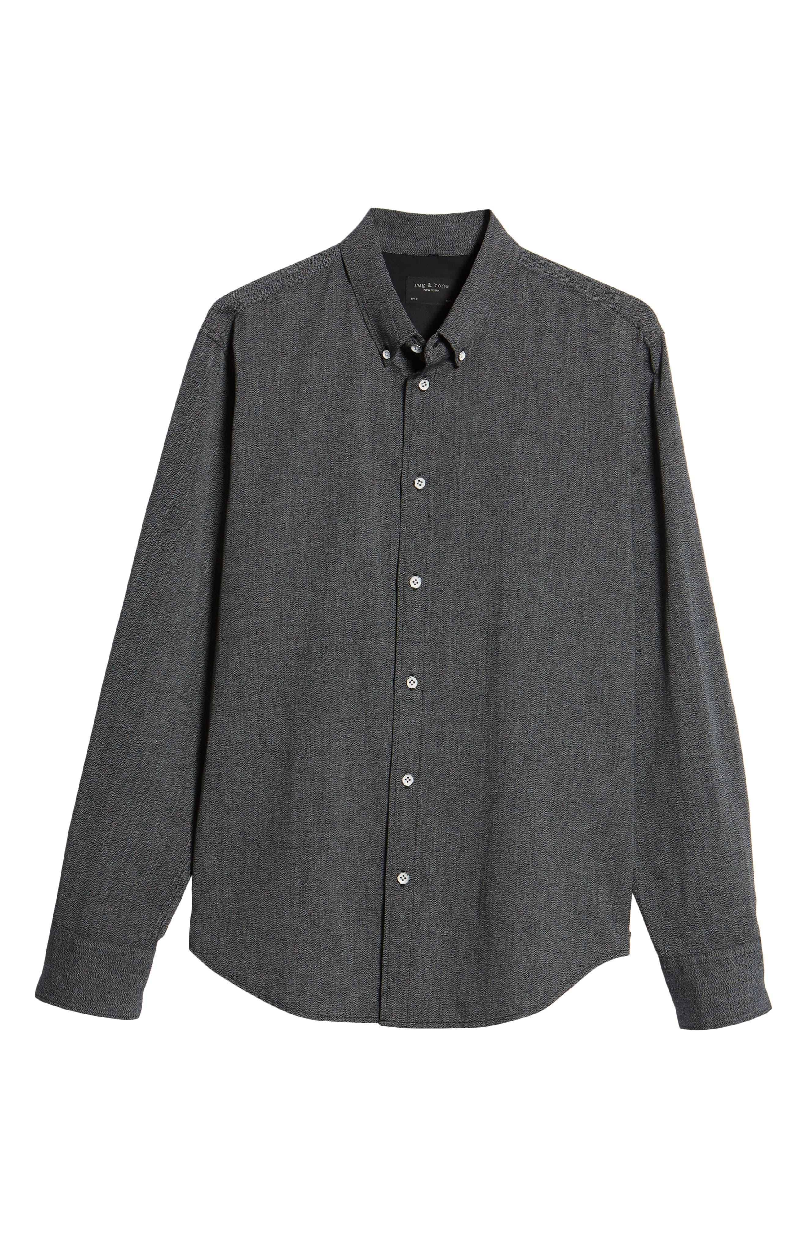 RAG & BONE,                             Tomlin Slim Fit Sport Shirt,                             Alternate thumbnail 6, color,                             020