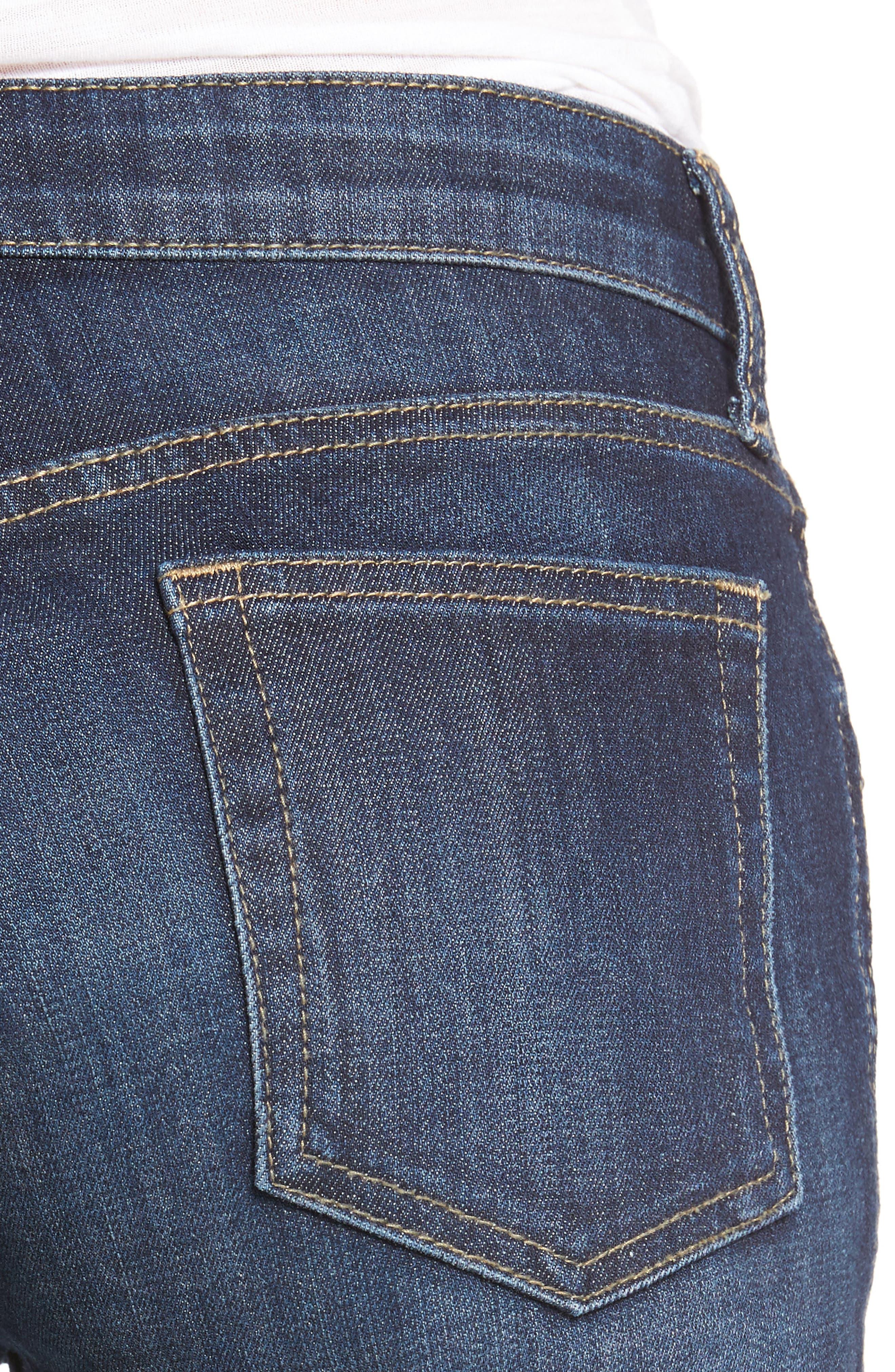 Gidget Denim Cutoff Shorts,                             Alternate thumbnail 4, color,                             STIMULATING