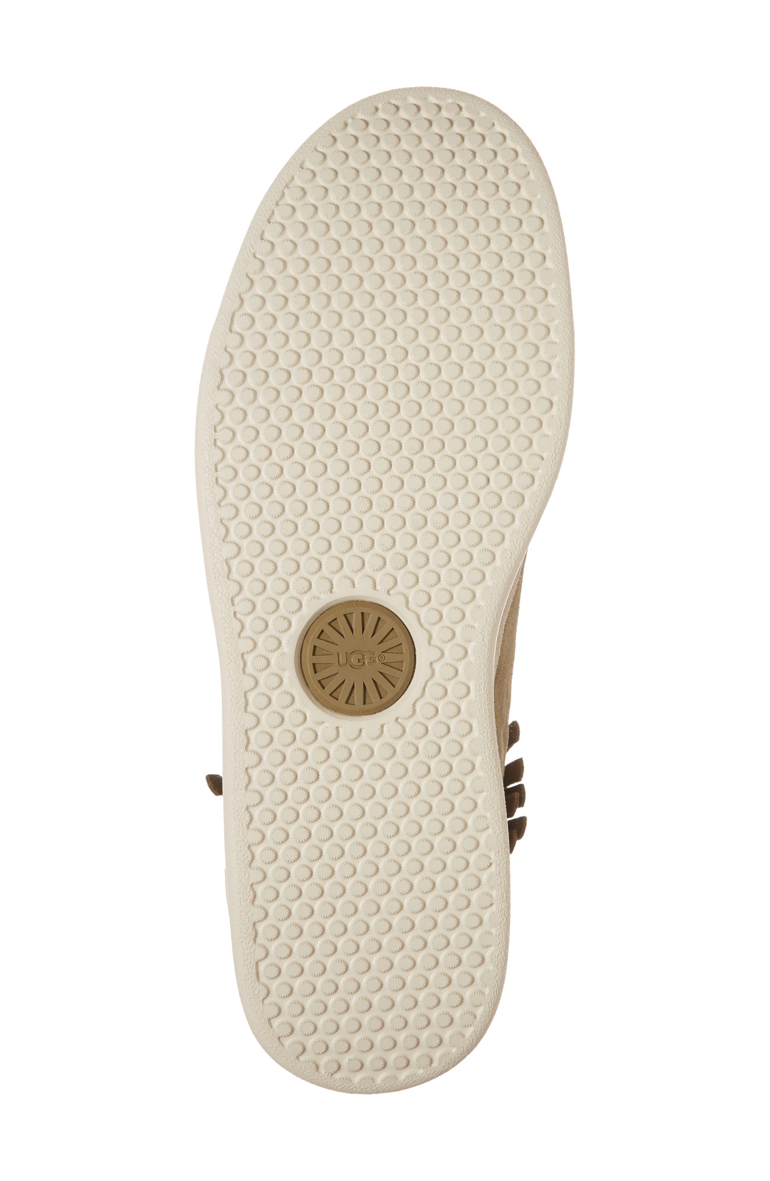 Brecken Fringe High-Top Sneaker,                             Alternate thumbnail 6, color,                             204