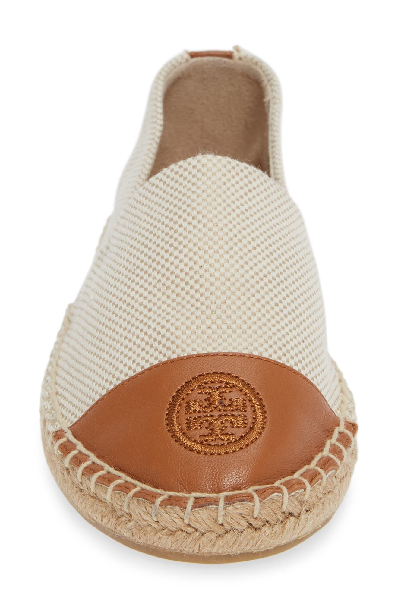 TORY BURCH,                             Colorblock Espadrille Flat,                             Alternate thumbnail 4, color,                             276
