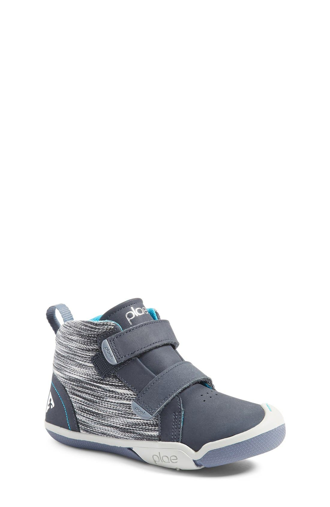 Max Customizable High Top Sneaker,                             Main thumbnail 1, color,                             LEATHER WIND