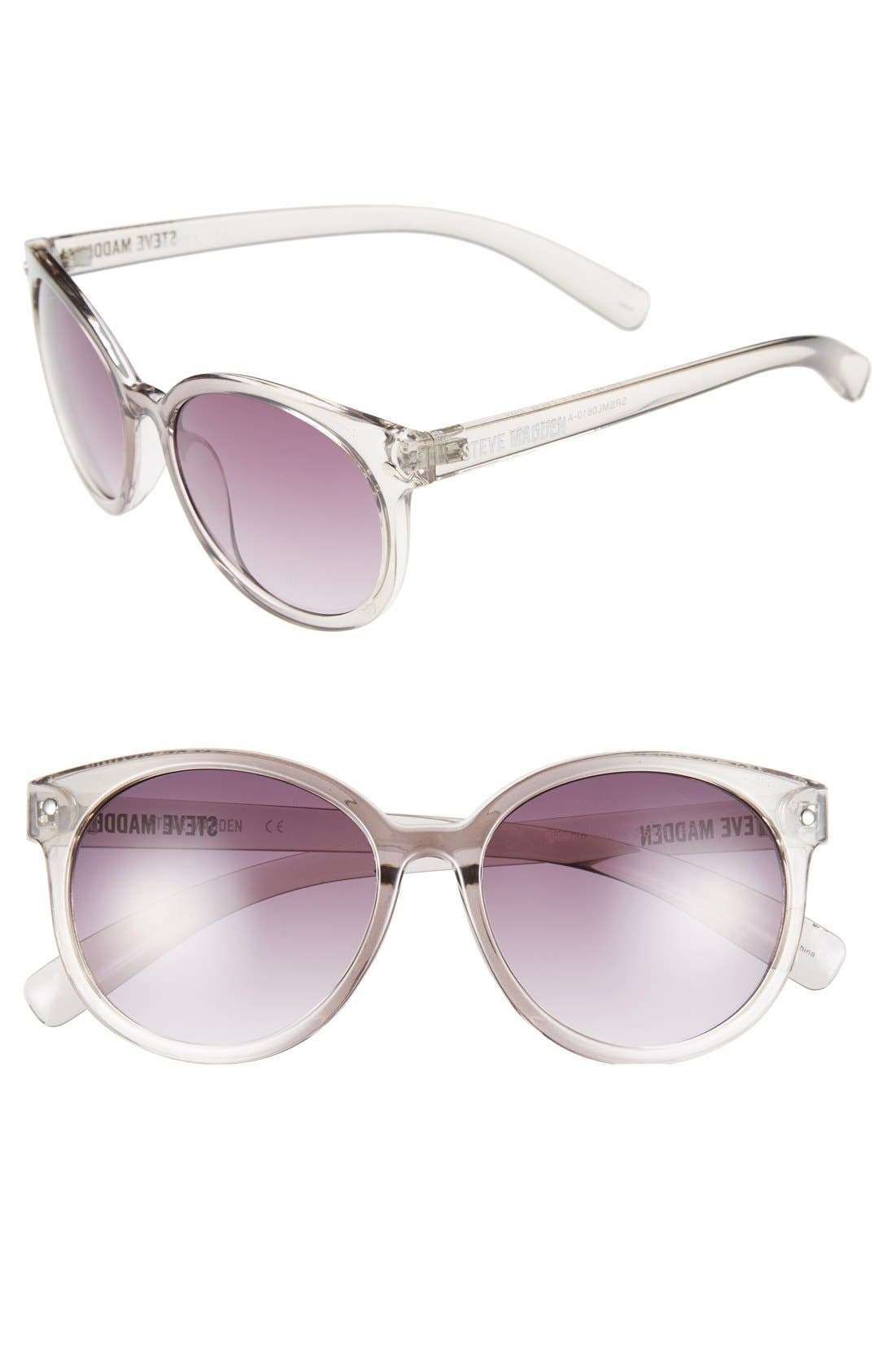 'Crystal' 54mm Oval Sunglasses,                             Main thumbnail 1, color,                             020