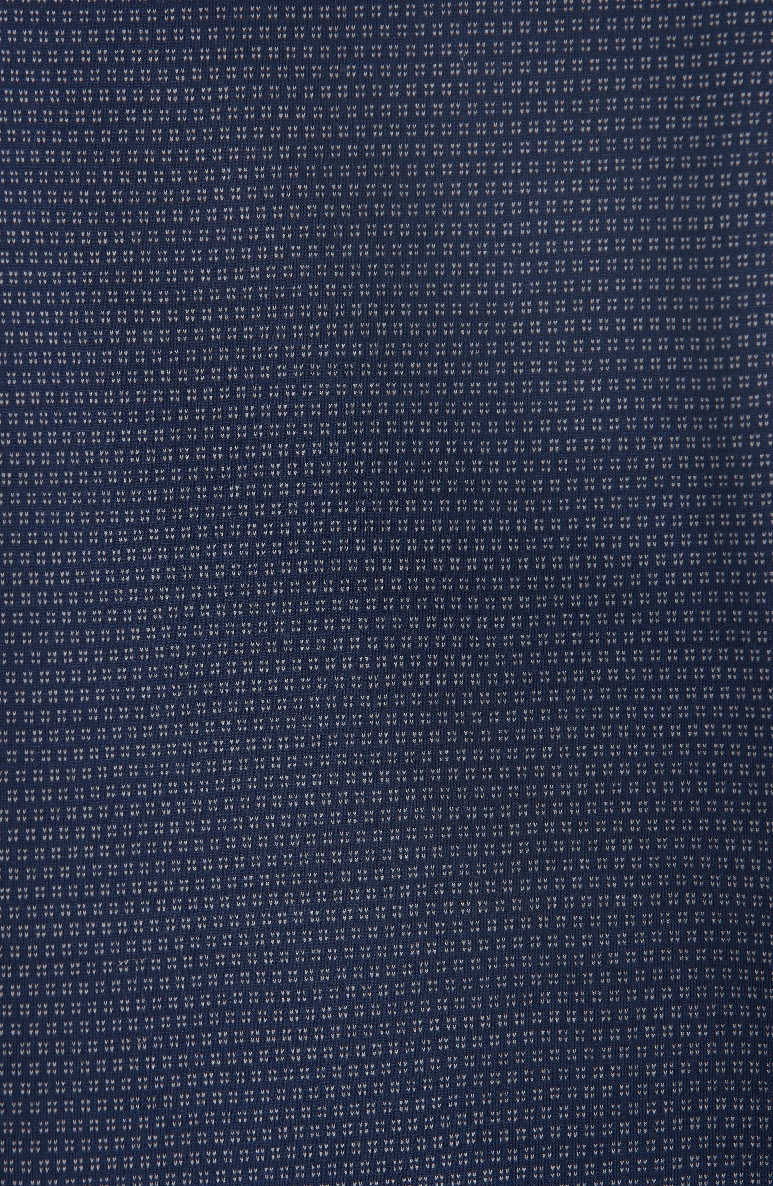 Geometric Cotton Polo Shirt,                             Alternate thumbnail 5, color,                             400