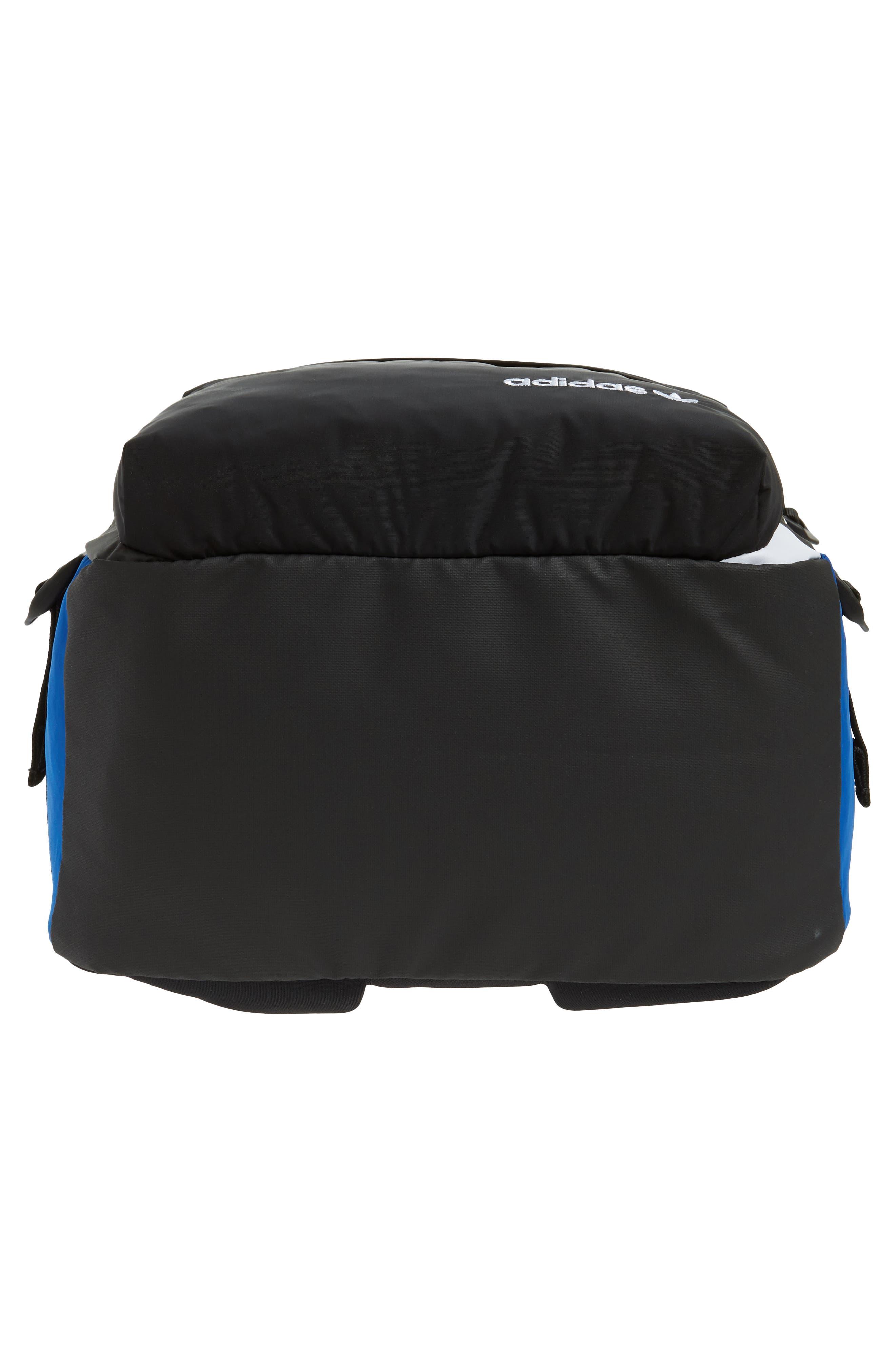 adidas Original EQT Blocked Backpack,                             Alternate thumbnail 6, color,                             COLLEGIATE BLUE/ BLACK/ WHITE