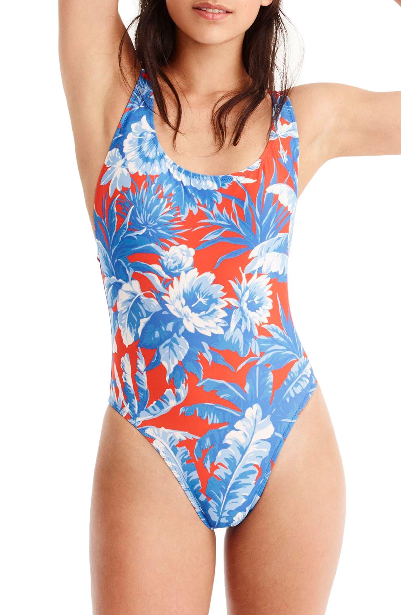 J.CREW Ratti Rio Floral One-Piece Swimsuit, Main, color, 400