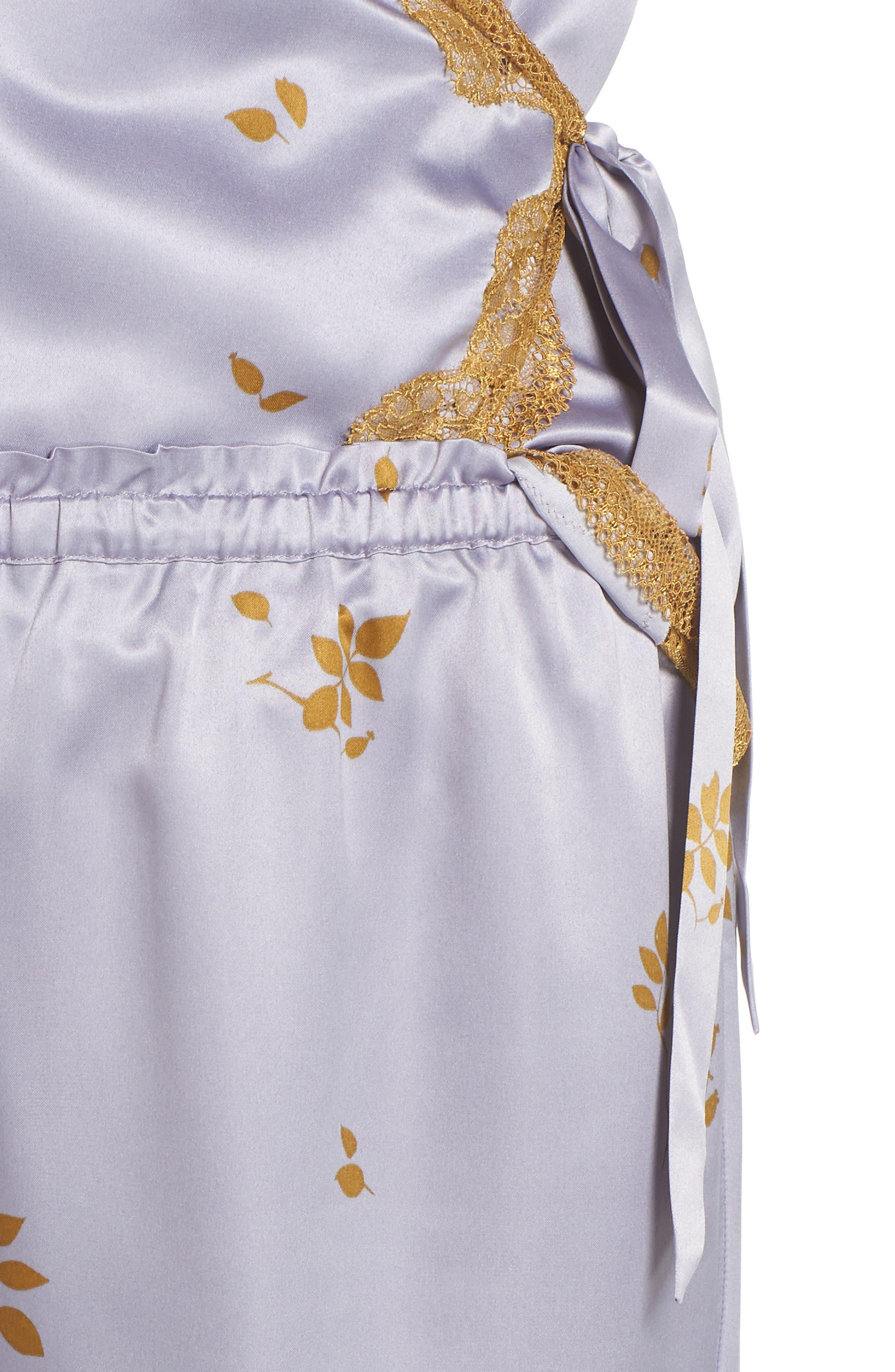 Colette Pajamas,                             Alternate thumbnail 4, color,                             GREY LILAC FALLING LEAVES