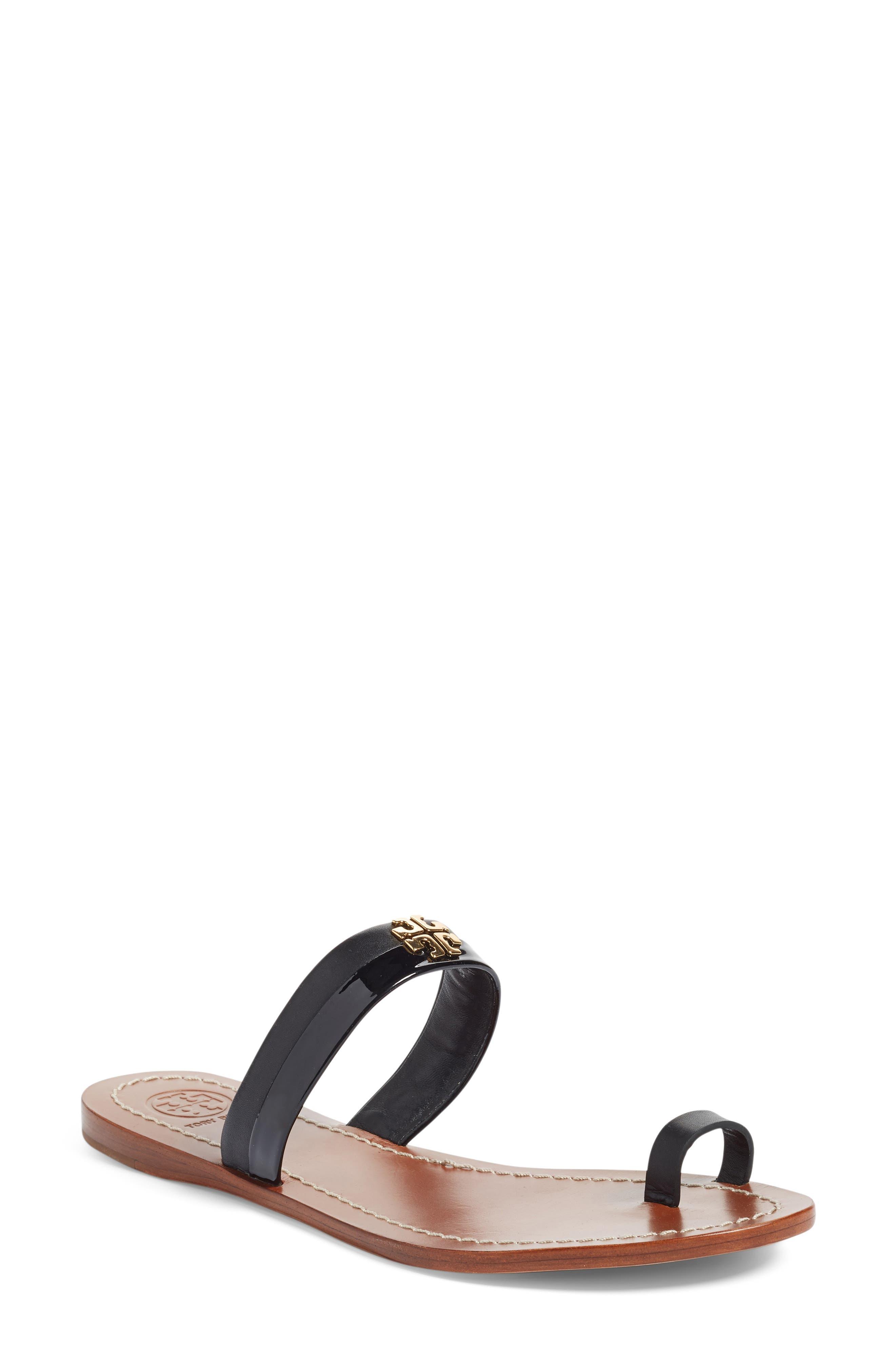 Jolie Toe Ring Sandal,                         Main,                         color, 001