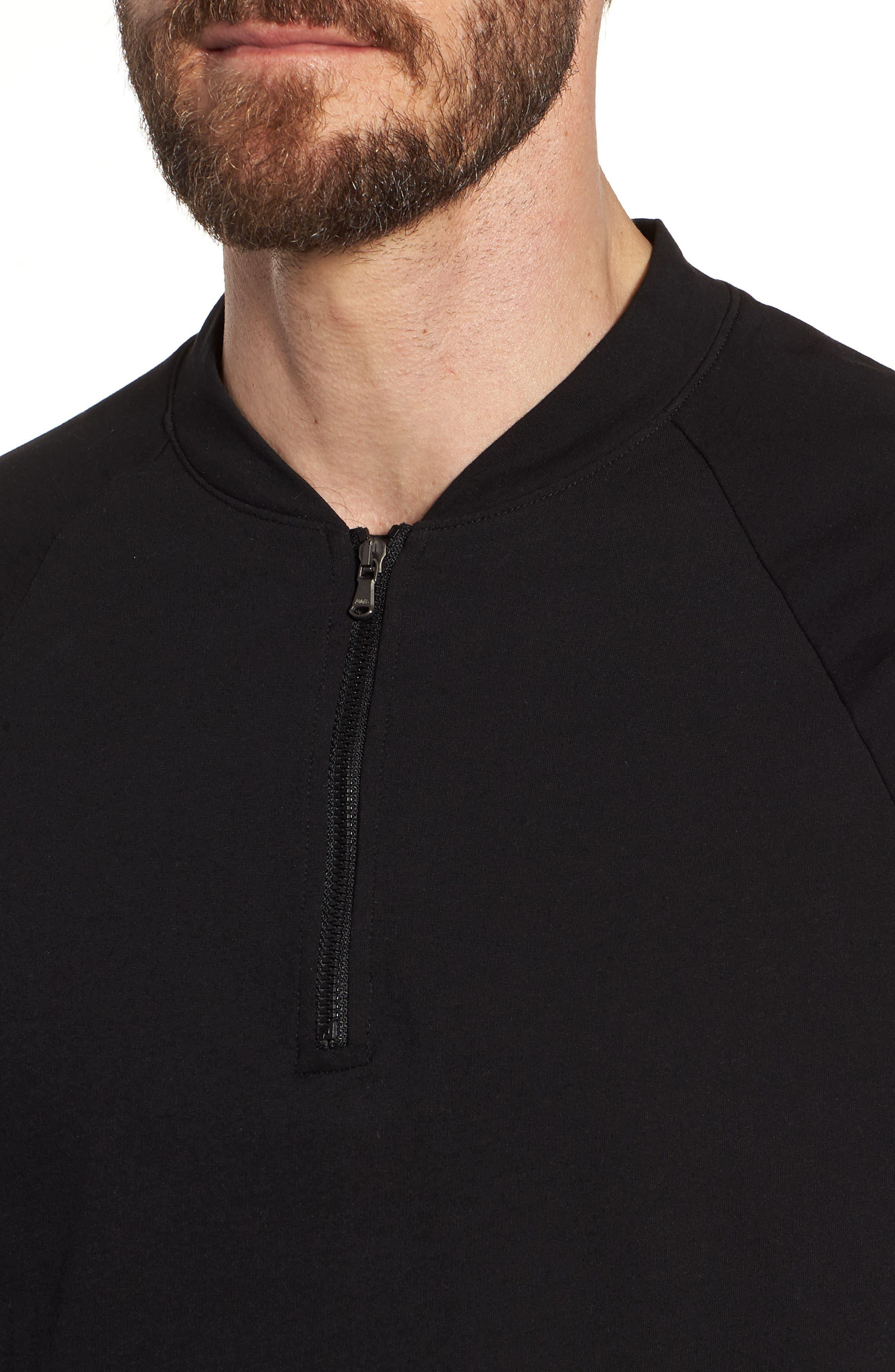 Regular Fit Half Zip Baseball Pullover,                             Alternate thumbnail 7, color,
