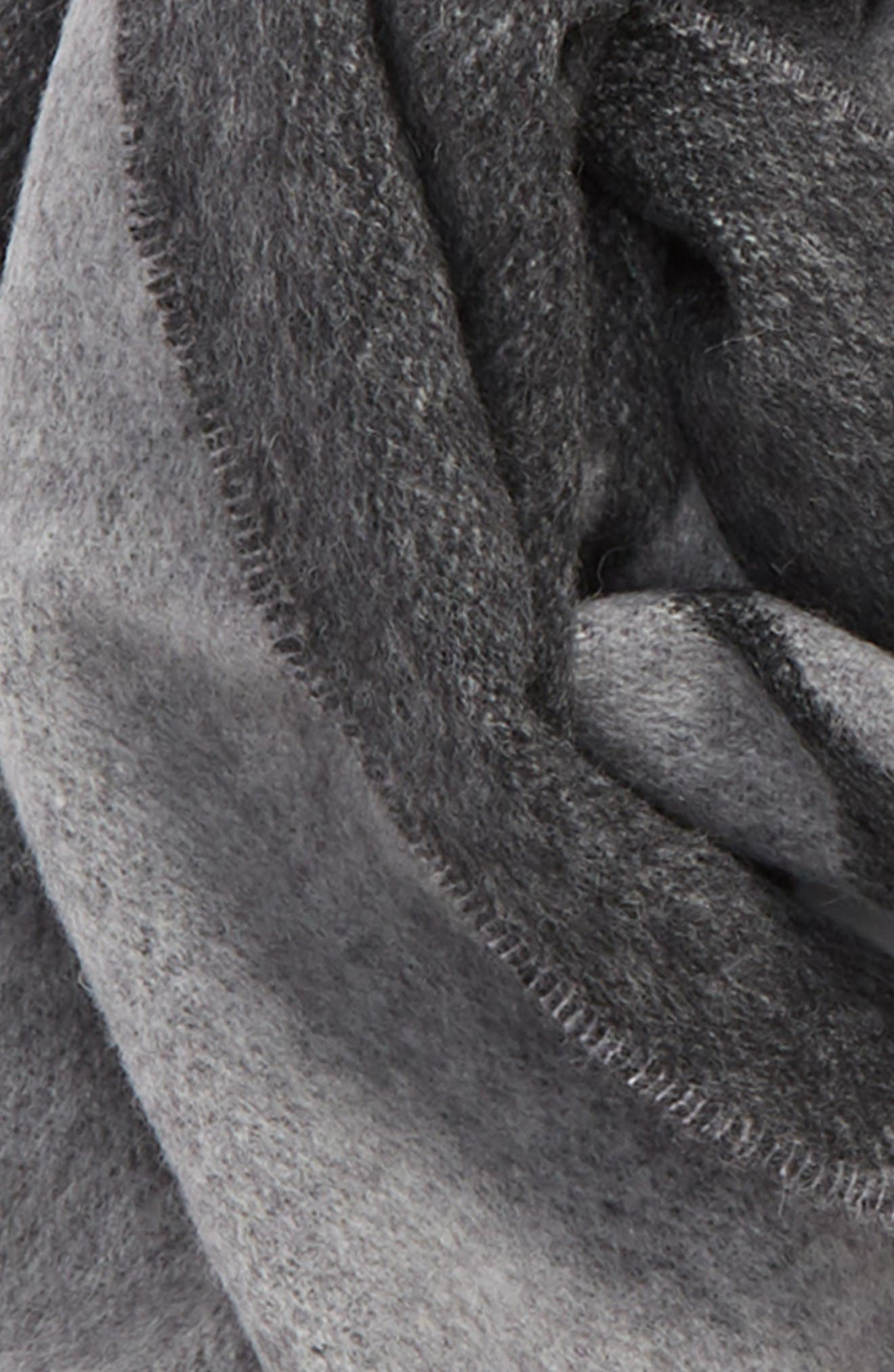 Graphic Wool Scarf,                             Alternate thumbnail 4, color,                             GREY MULTI