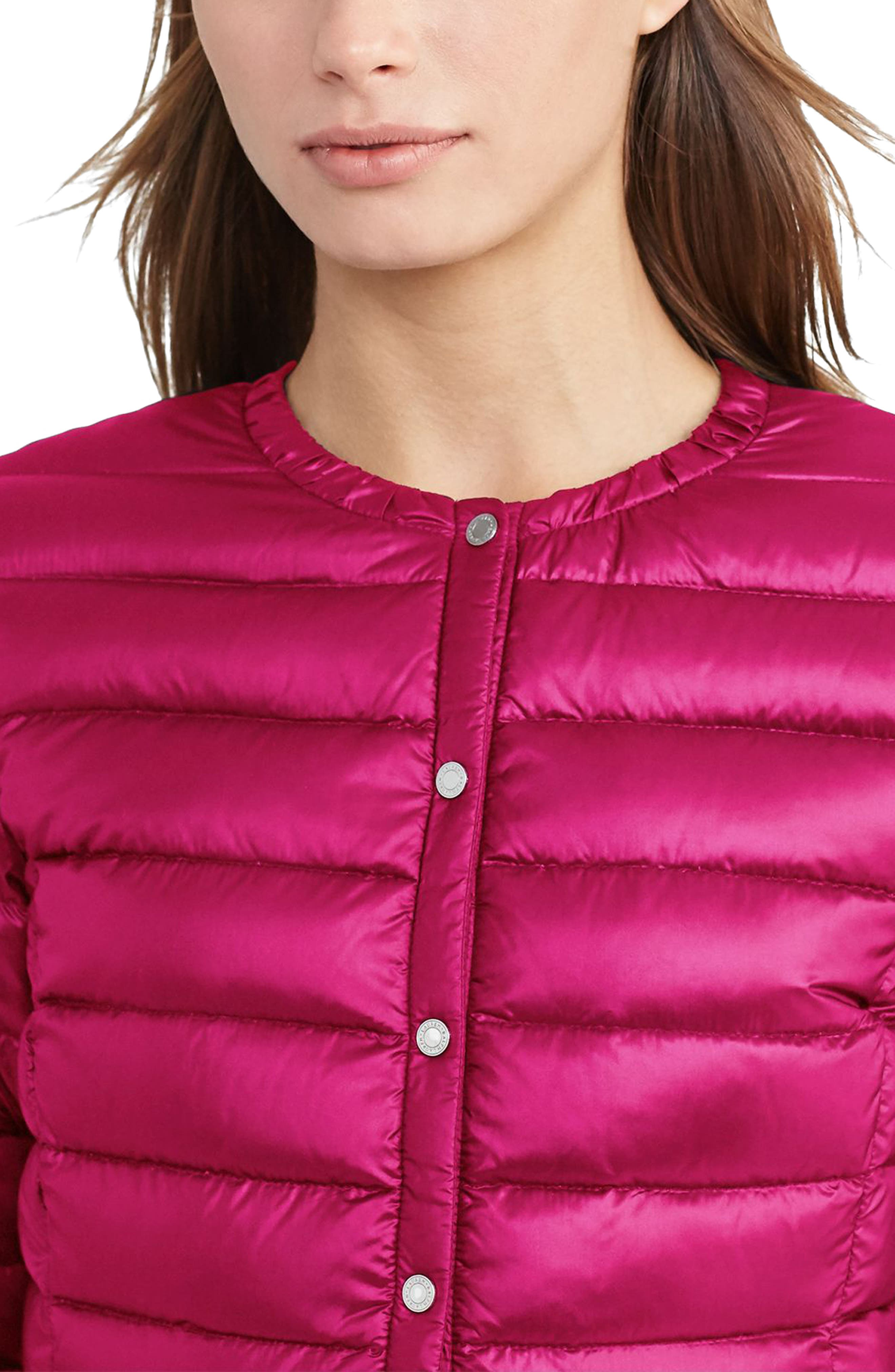 Packable Quilted Collarless Down Jacket,                             Alternate thumbnail 9, color,