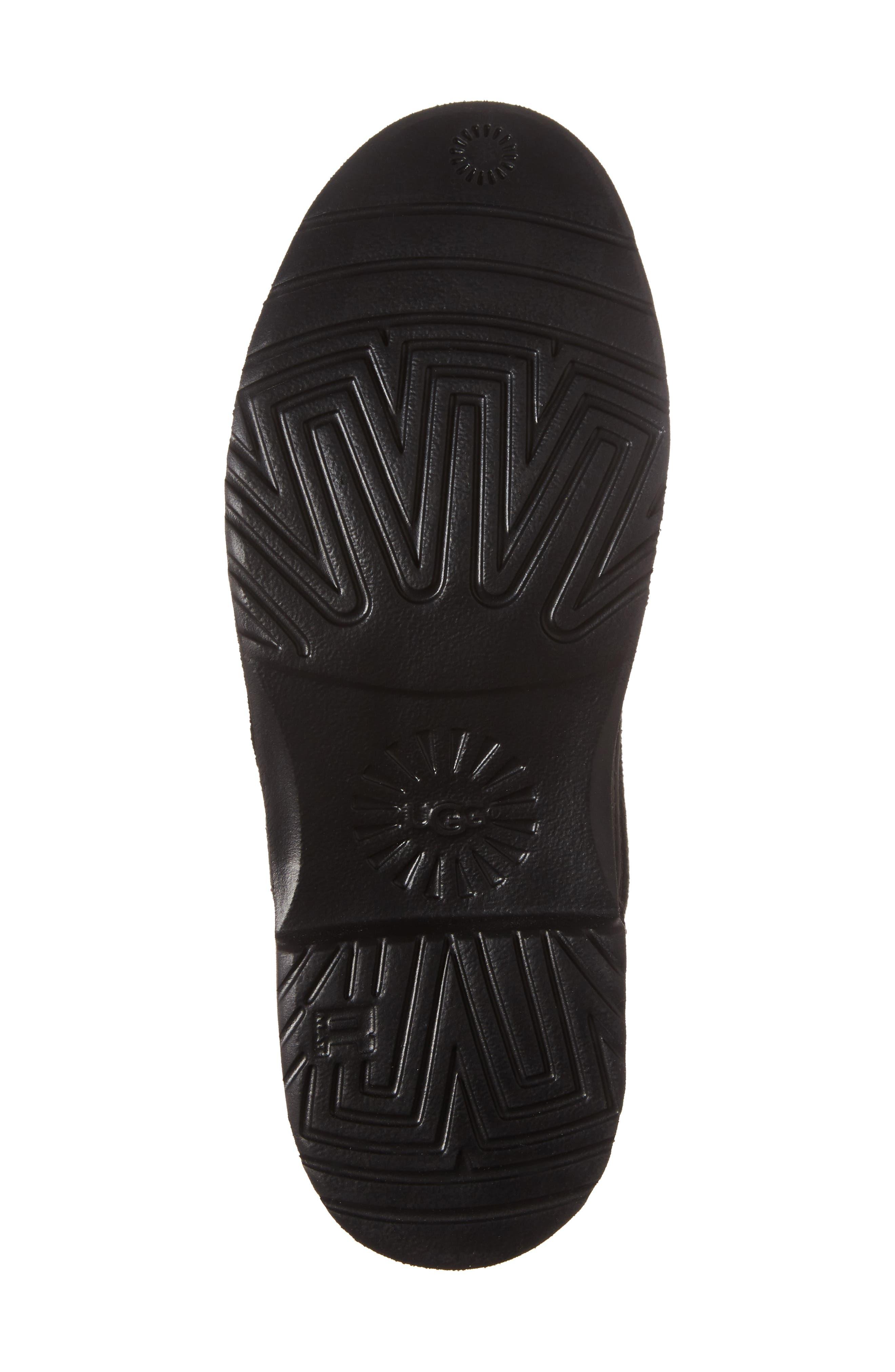 Naiyah Lace-Back Genuine Shearling Boot,                             Alternate thumbnail 6, color,                             BLACK/ BLACK NUBUCK LEATHER