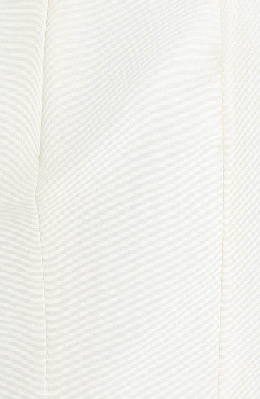 'Cate' Faille De Soie Fit & Flare Dress,                             Alternate thumbnail 2, color,                             IVORY