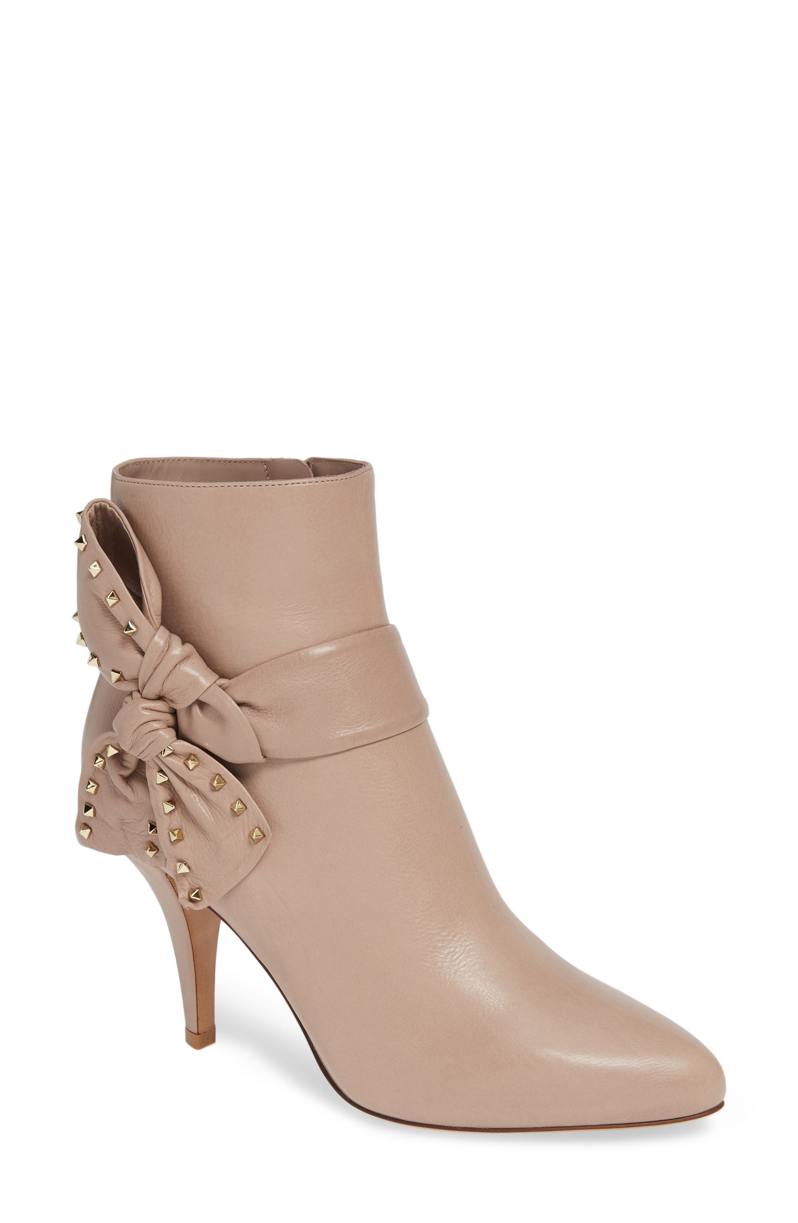Studded Bow Ankle Bootie,                         Main,                         color, 250