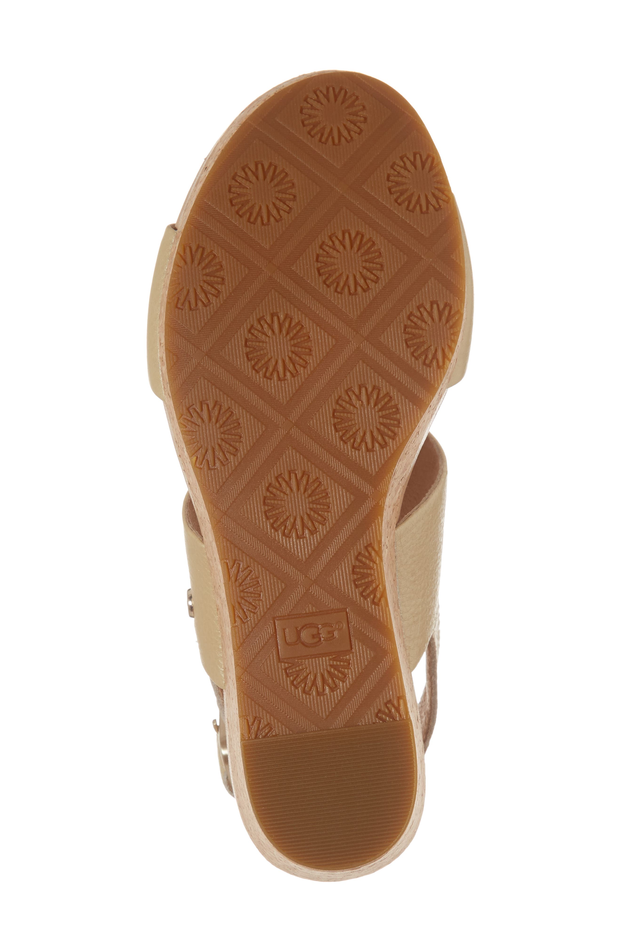 UGG<SUP>®</SUP>,                             Elena II Metallic Platform Wedge Sandal,                             Alternate thumbnail 6, color,                             710