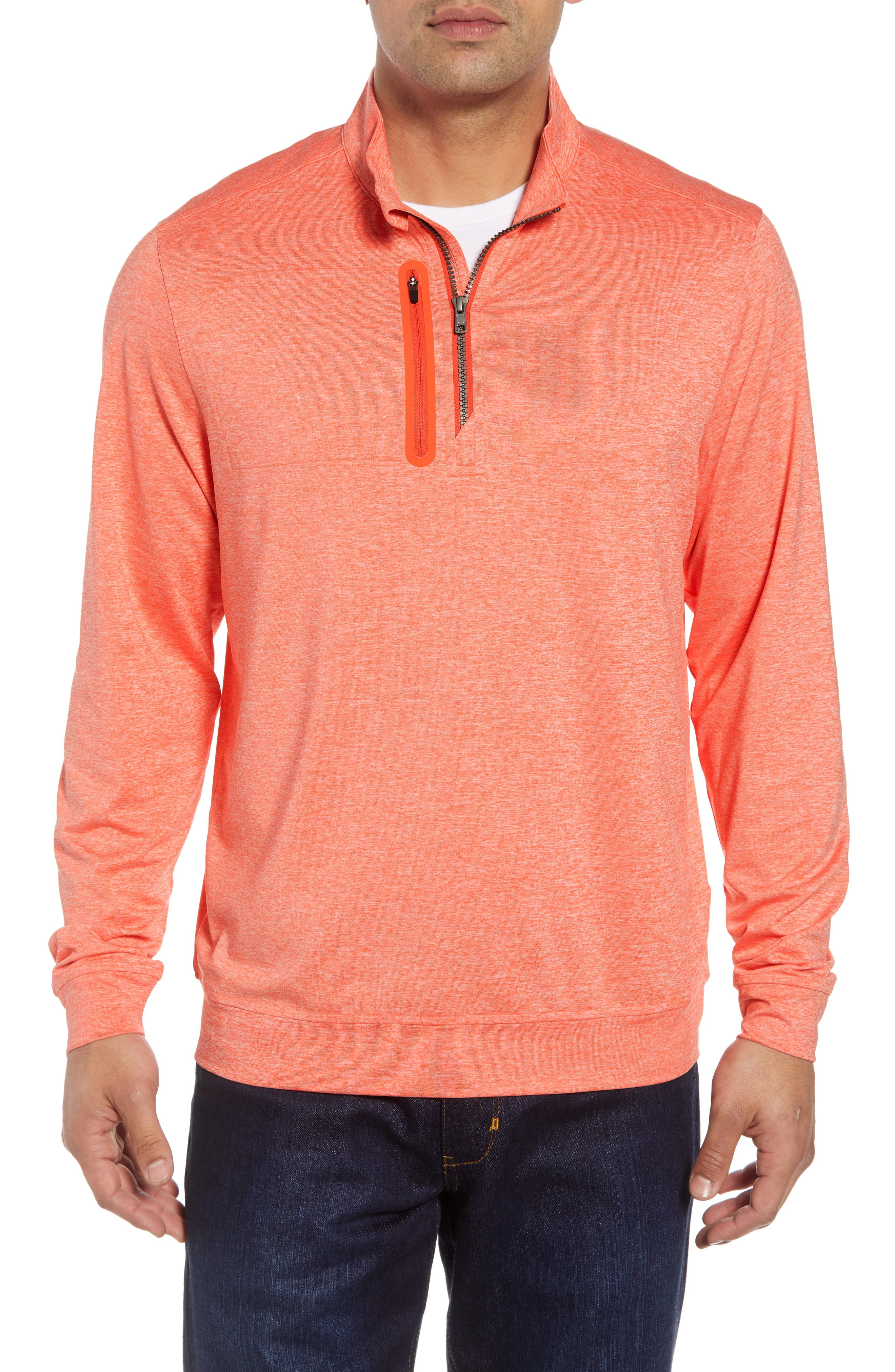 Stealth Half Zip Pullover,                             Main thumbnail 1, color,                             ALARM