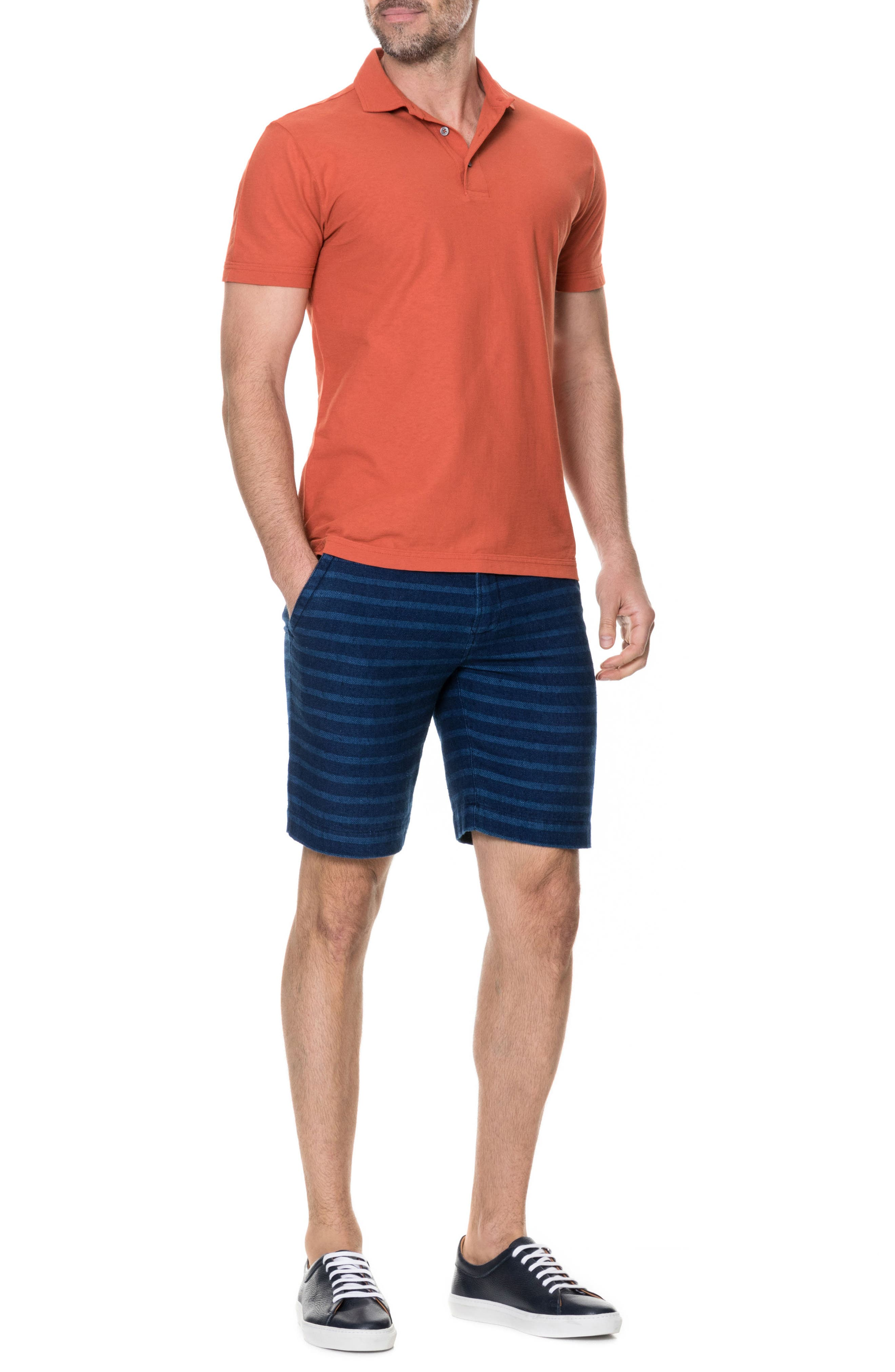 Wilsons Bay Sports Fit Polo,                             Alternate thumbnail 5, color,                             RED OCHRE