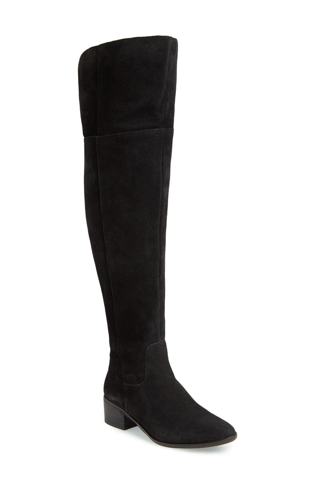 Suede Over the Knee Boot,                             Main thumbnail 1, color,                             006