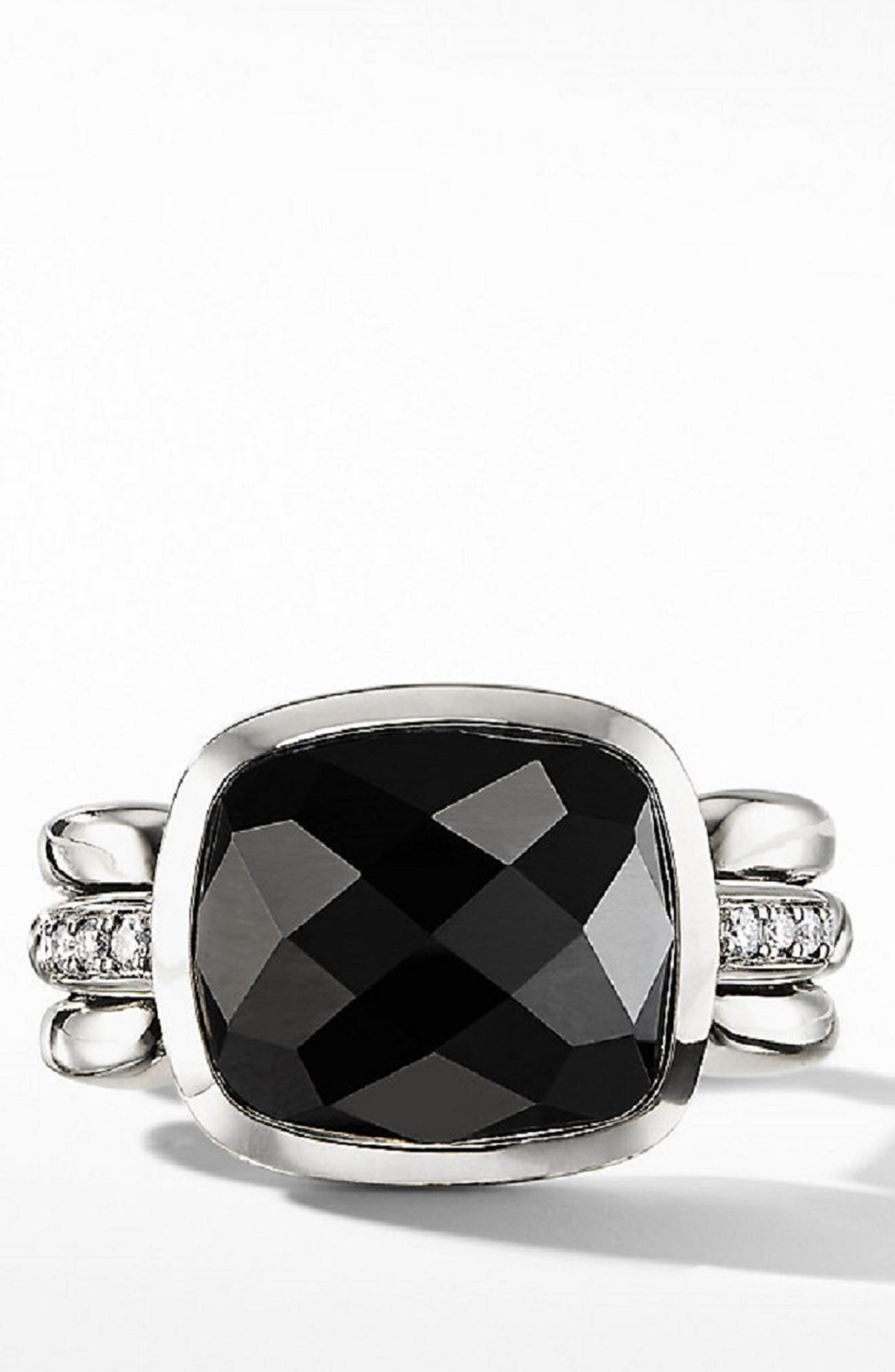 Wellesley Link Statement Ring with Diamonds,                             Alternate thumbnail 2, color,                             BLACK ONYX