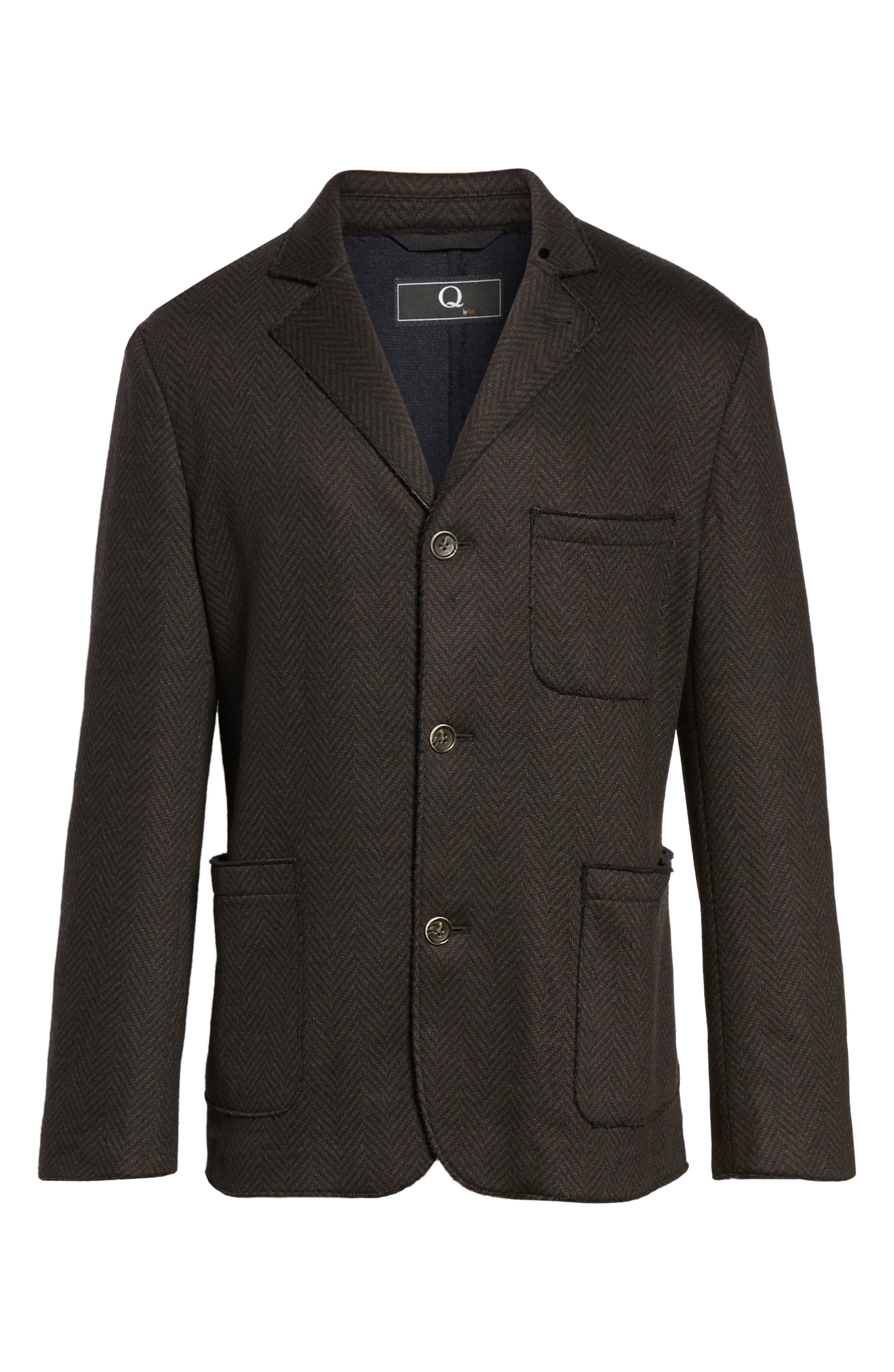 Laser Edge Wool Blend Jersey Sport Coat,                             Alternate thumbnail 5, color,                             201
