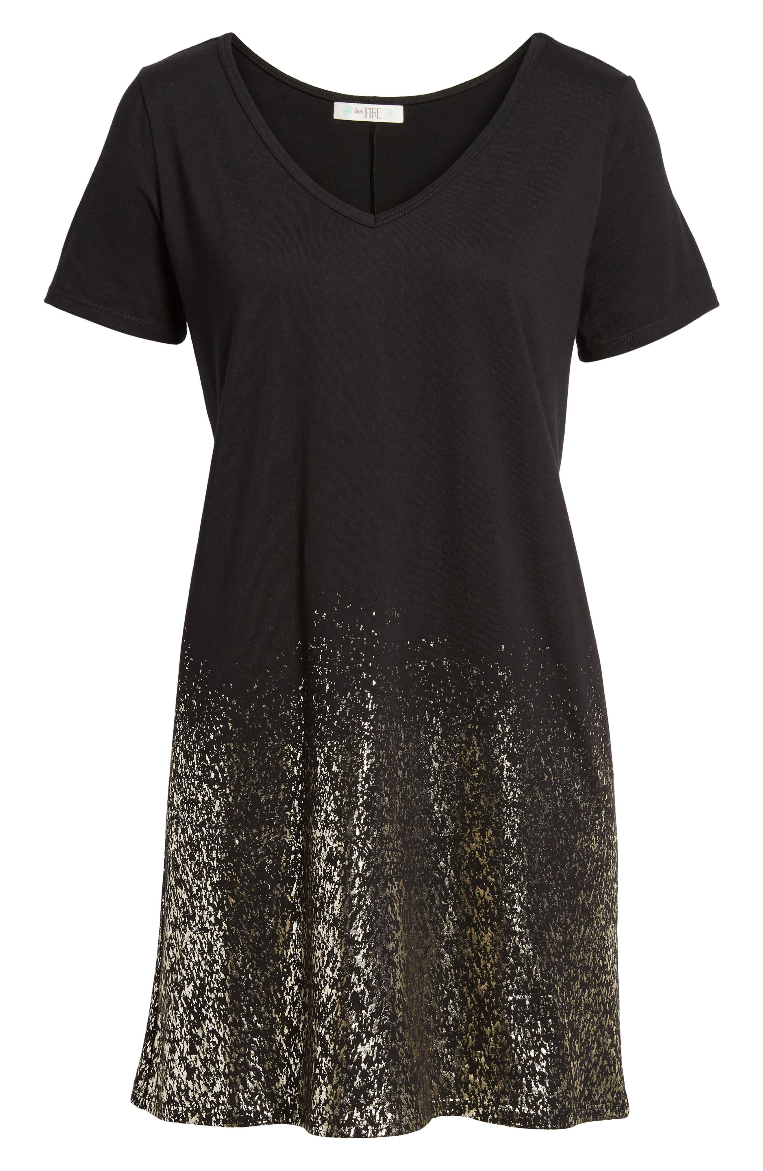 Foil Detail T-Shirt Dress,                             Alternate thumbnail 16, color,